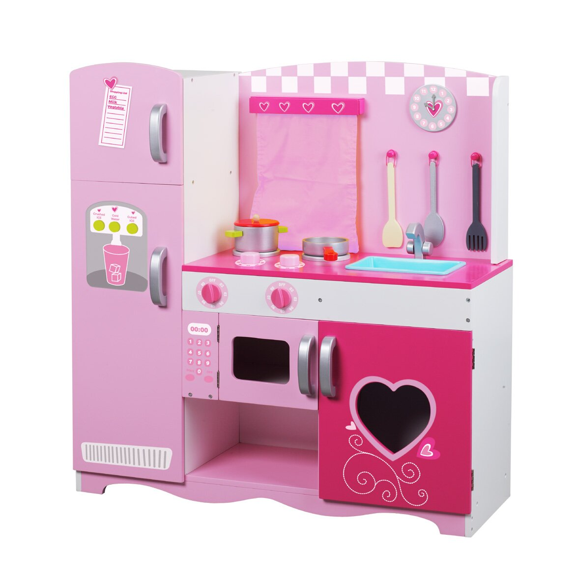 Classic toy wooden kitchen set reviews wayfair for Toy kitchen set