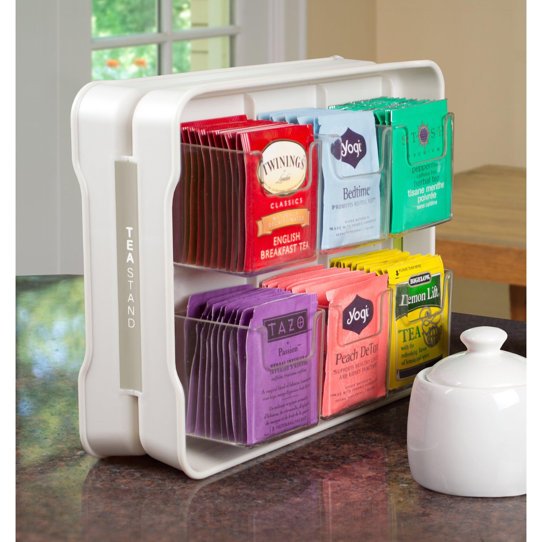 Youcopia Teastand 100 Tea Bag Organizer Amp Reviews Wayfair