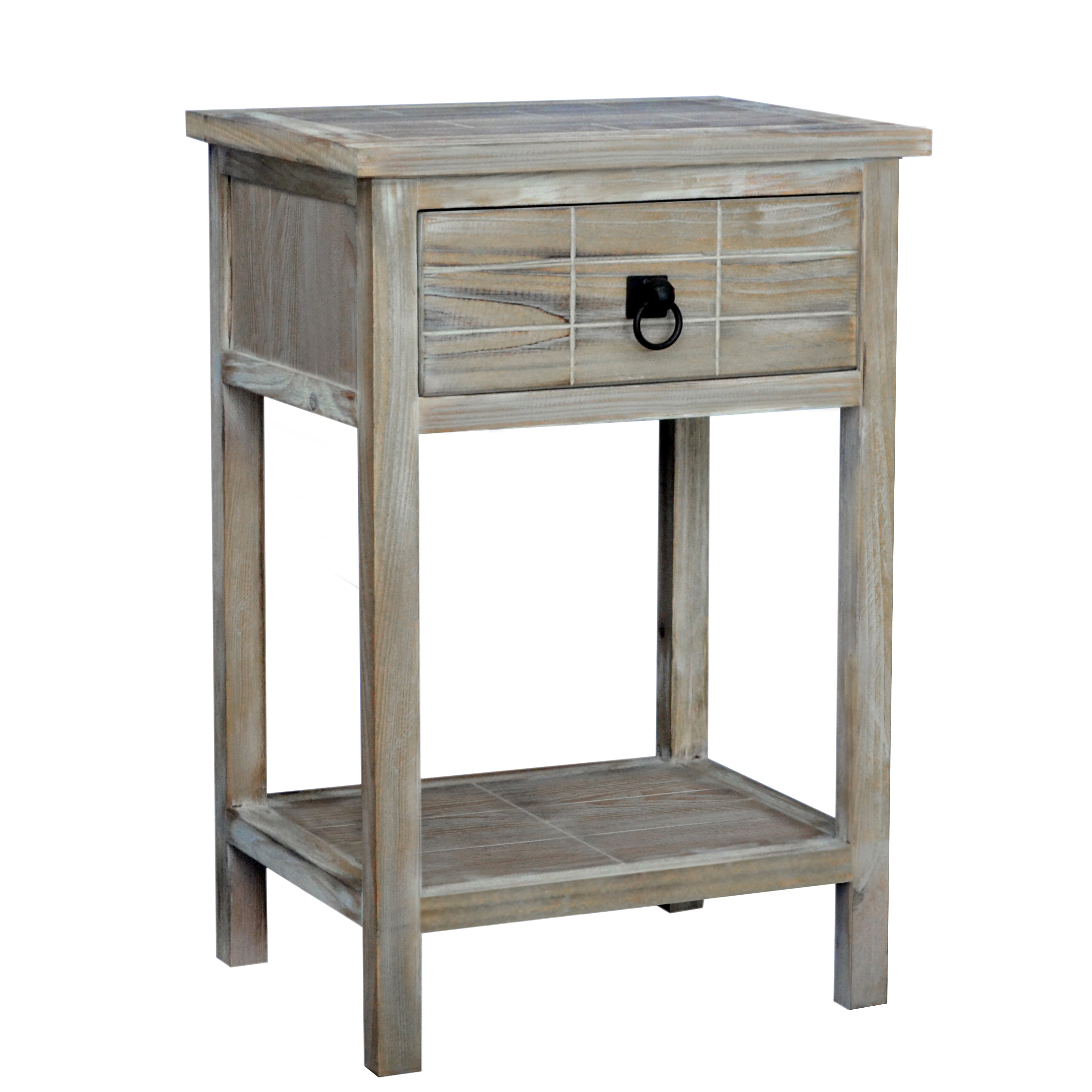 Driftwood End Table: Gallerie Decor Driftwood End Table & Reviews