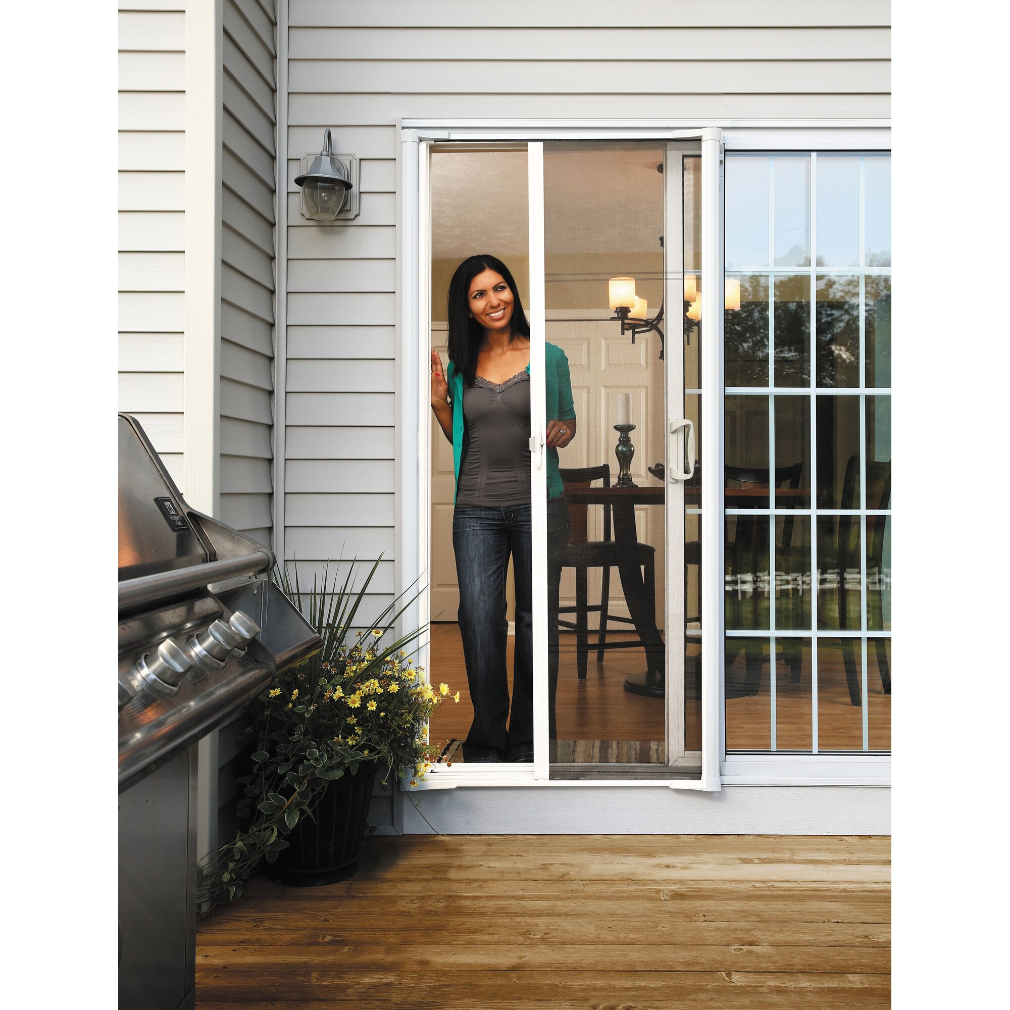 Zabitat brisa retractable screen door reviews wayfair for Best rated retractable screen doors