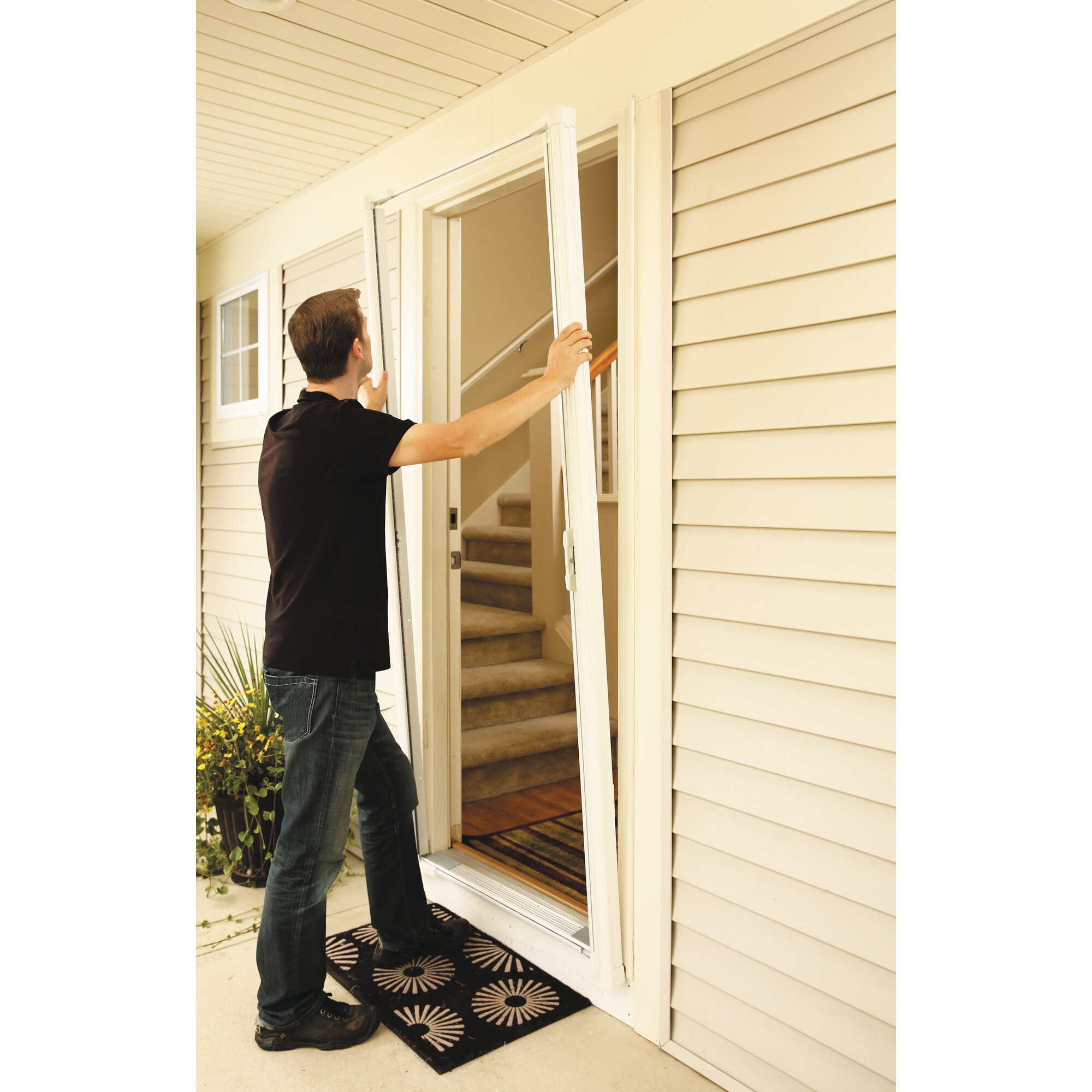 Odl brisa retractable screen door reviews wayfair for Retractable screen door
