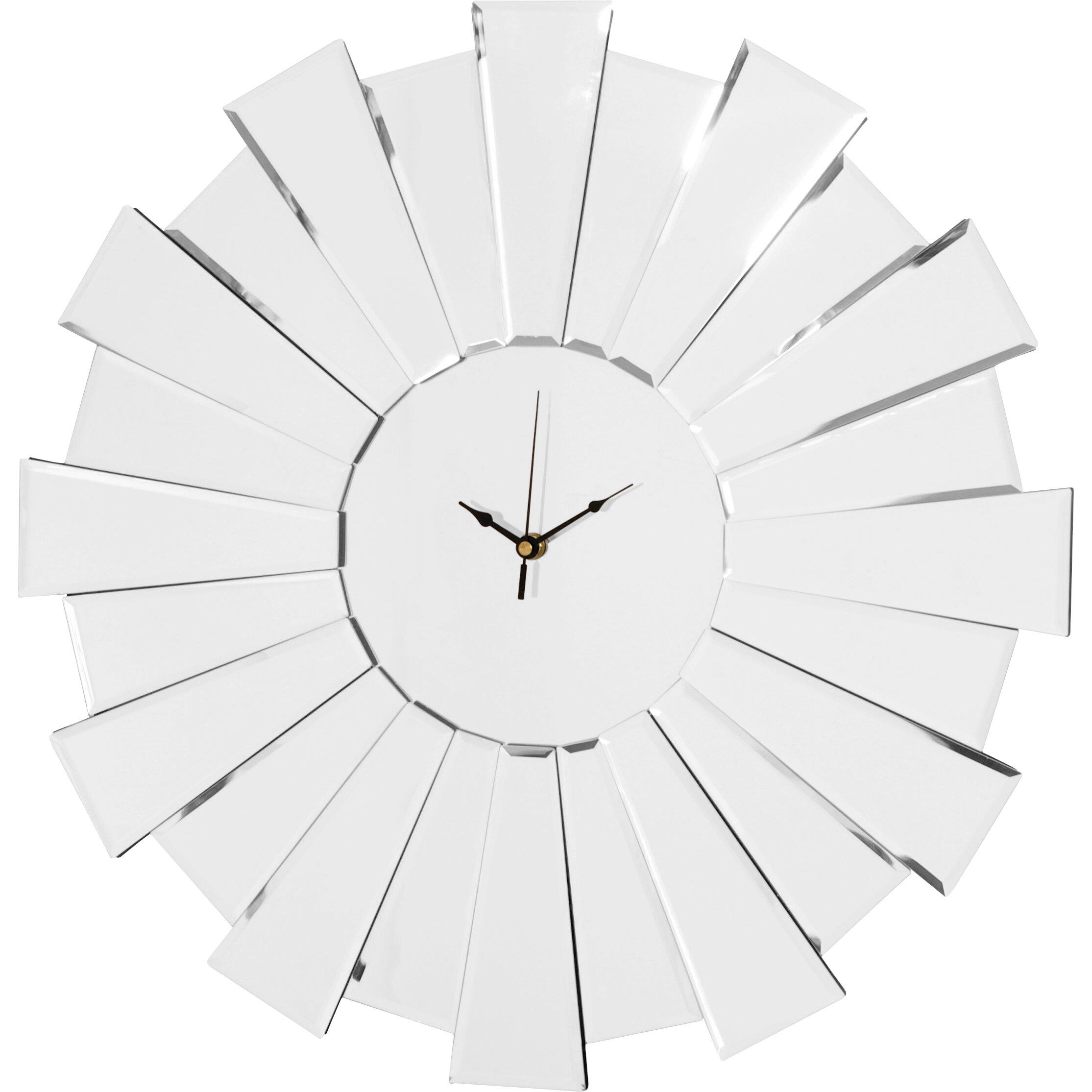 Innova 55cm Sunburst Mirror Wall Clock Amp Reviews Wayfair Uk