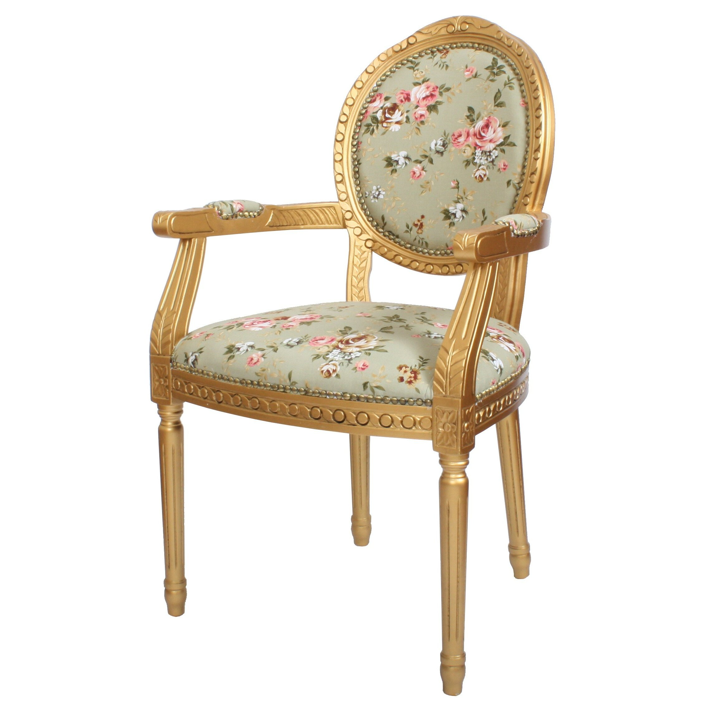 Derry S Louis Floral Upholstered Dining Chair Amp Reviews