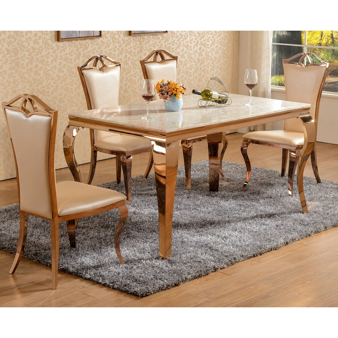 Derry 39 s julia dining table and 6 chairs wayfair uk for Wayfair furniture dining tables