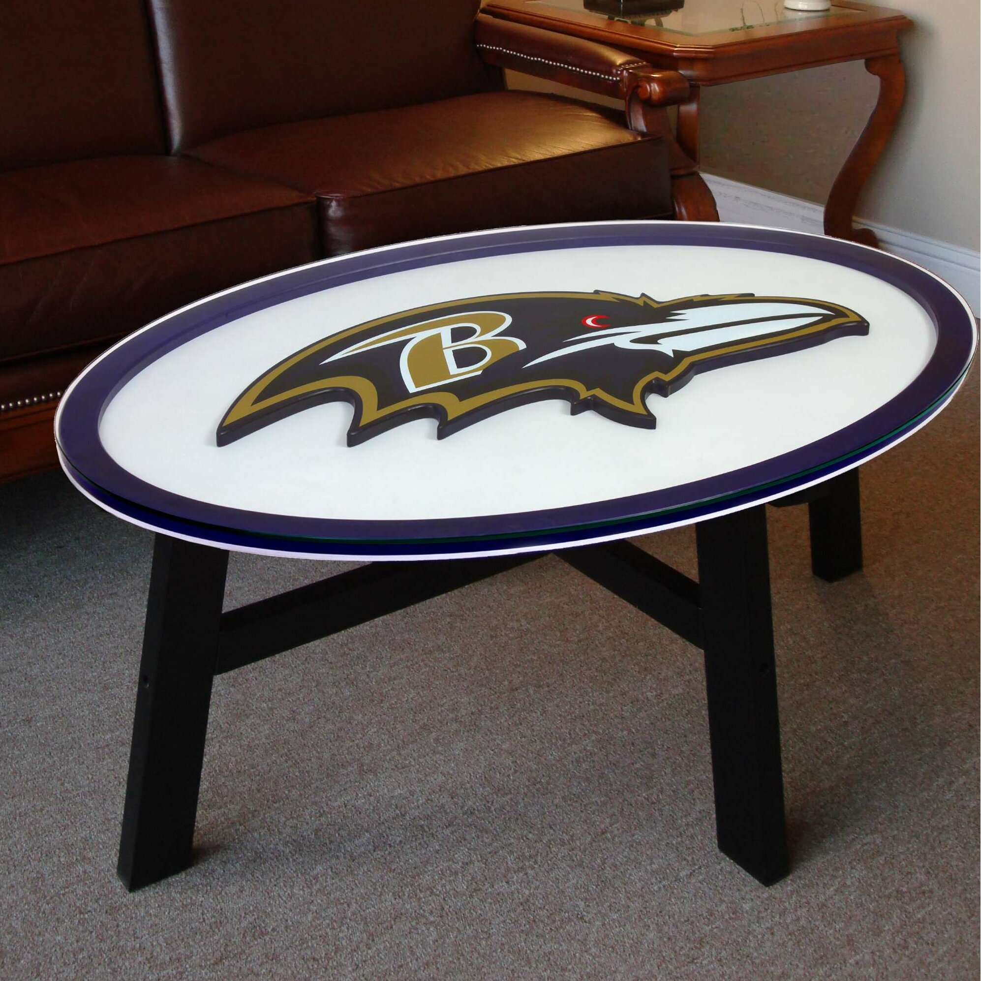 Fan Creations Nfl Logo Coffee Table Amp Reviews Wayfair Ca