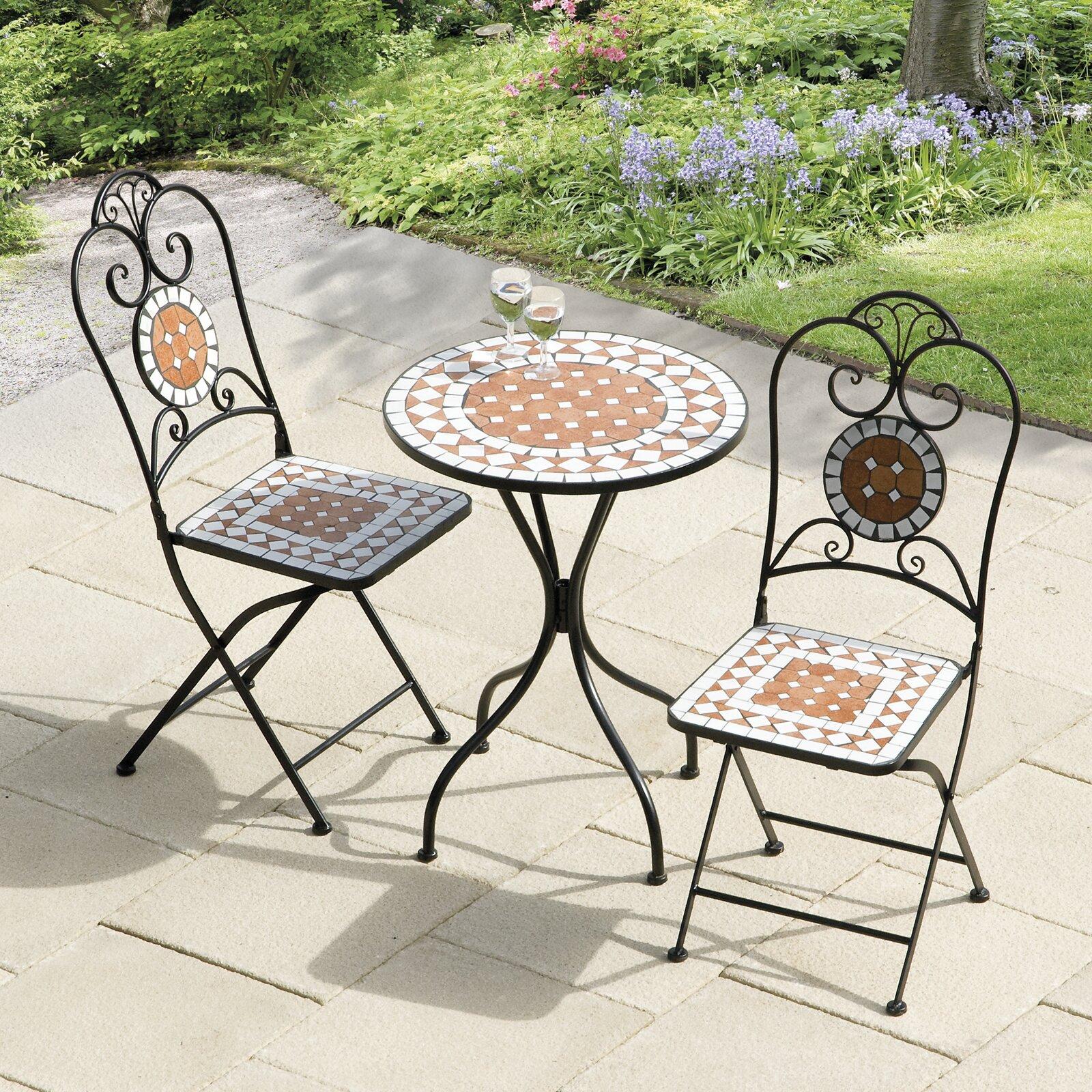 SunTime Outdoor Living Diamond Mosaic 3 Piece Bistro Set ... on Suntime Outdoor Living id=30717