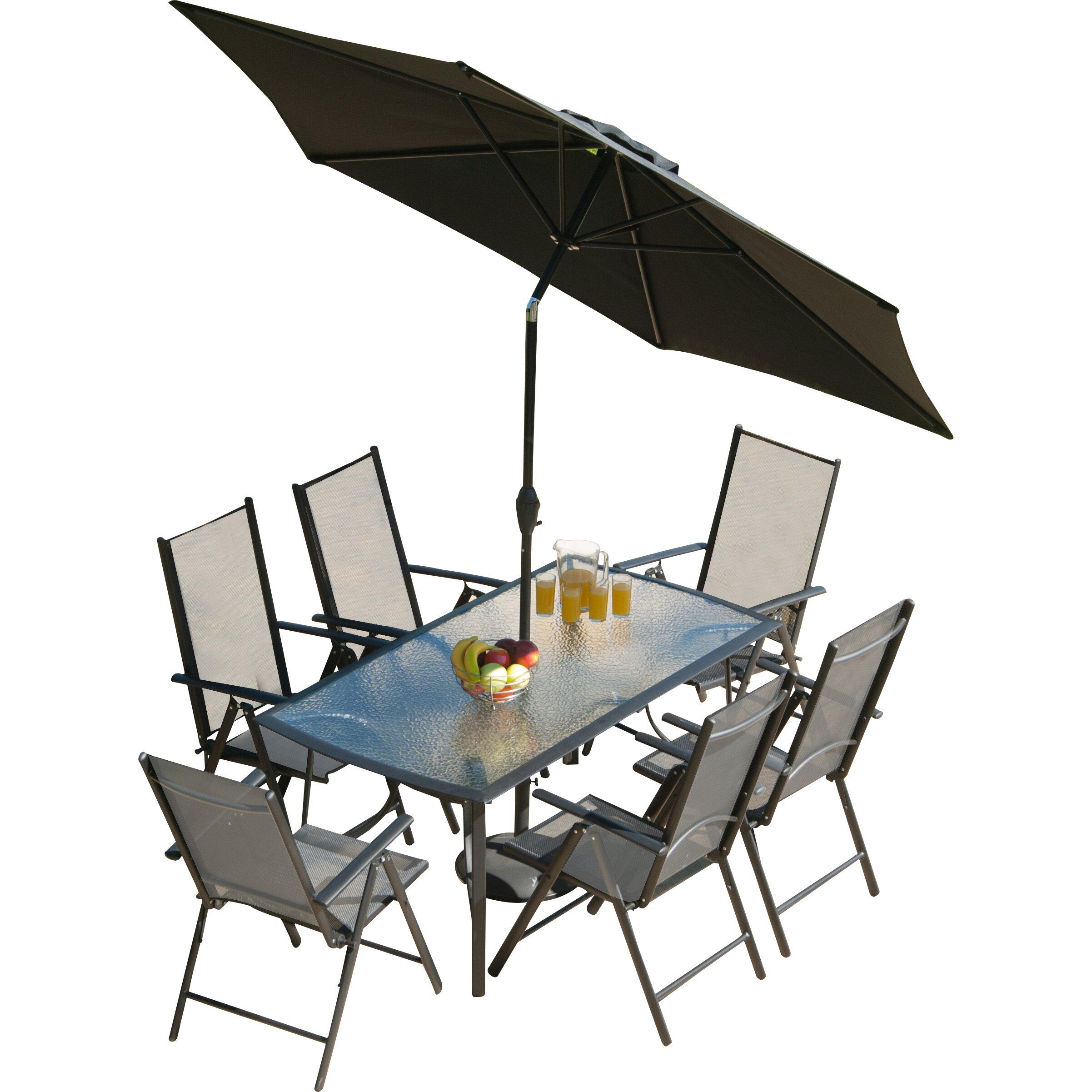SunTime Outdoor Living Capri 8 Piece Dining Set & Reviews ... on Suntime Outdoor Living id=62361