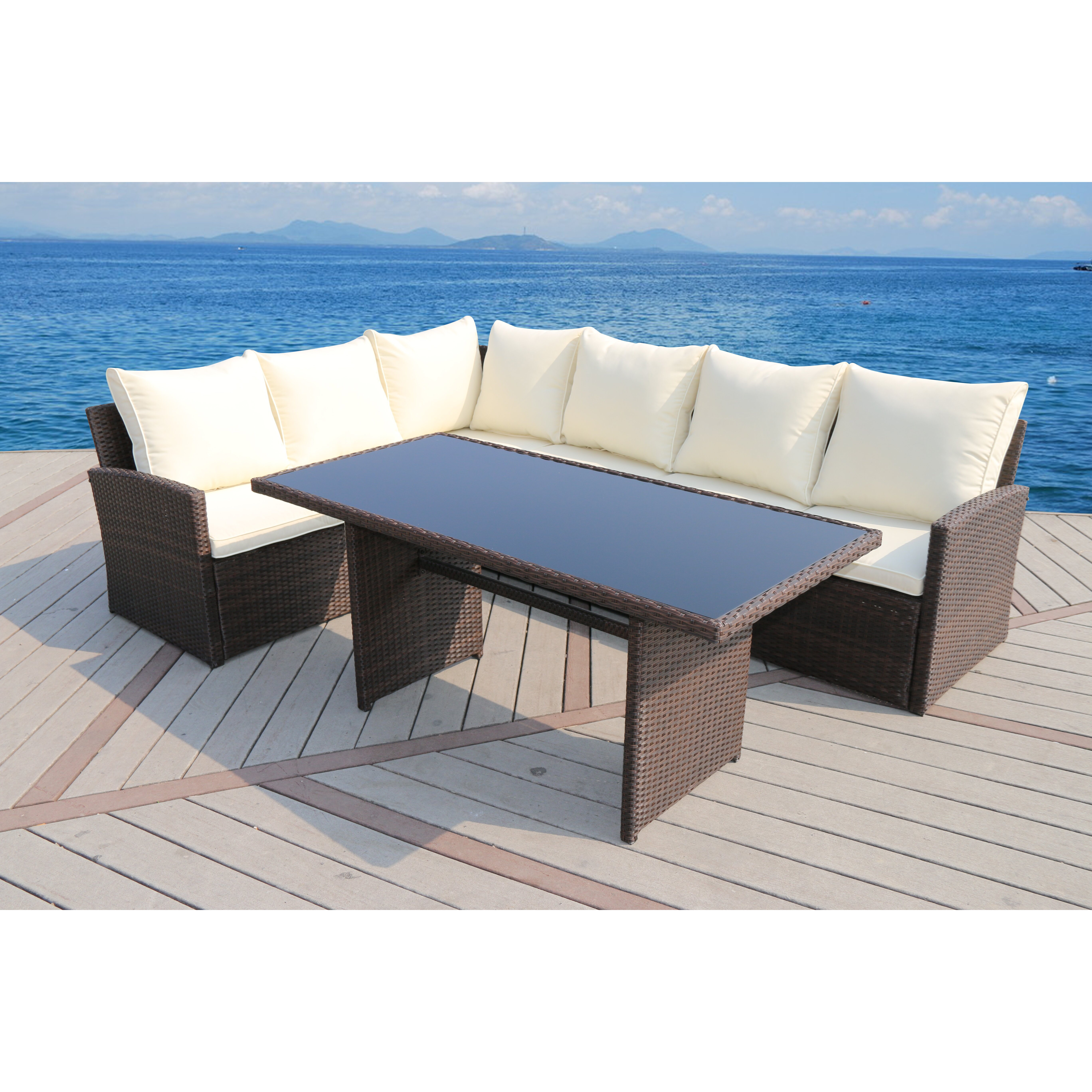 SunTime Outdoor Living Barcelona 3 Piece Seating Group ... on Suntime Outdoor Living id=30425