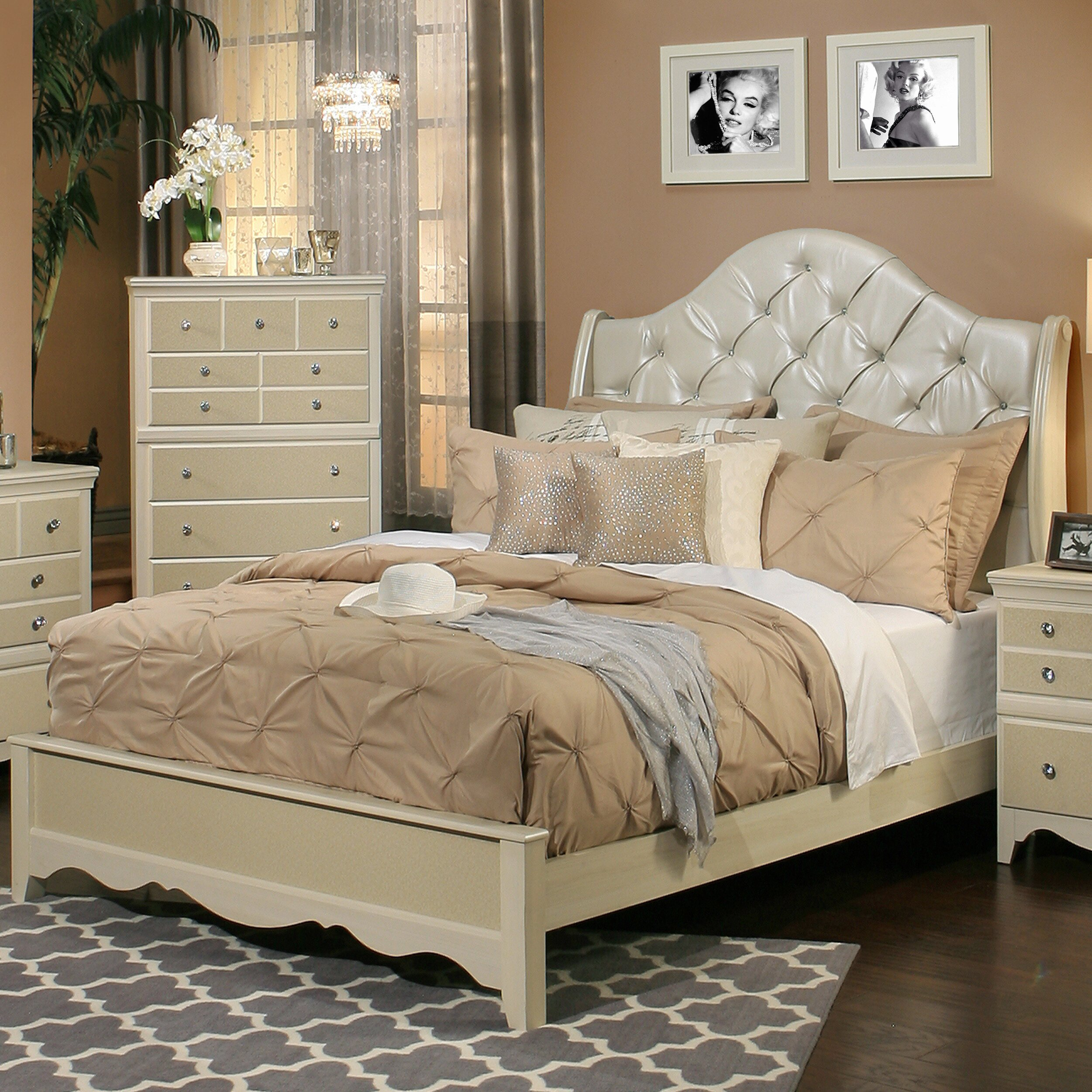 Sandberg Furniture Marilyn Panel Customizable Bedroom Set Reviews Wayfair