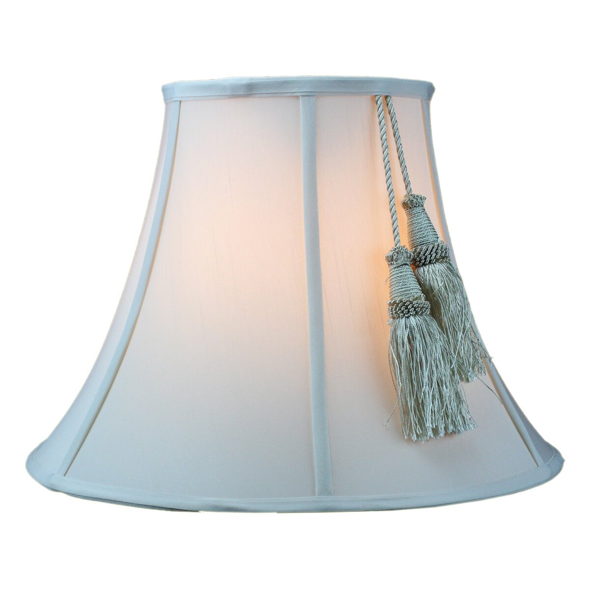 "Home Concept 16"" Fabric Bell Lamp Shade & Reviews"