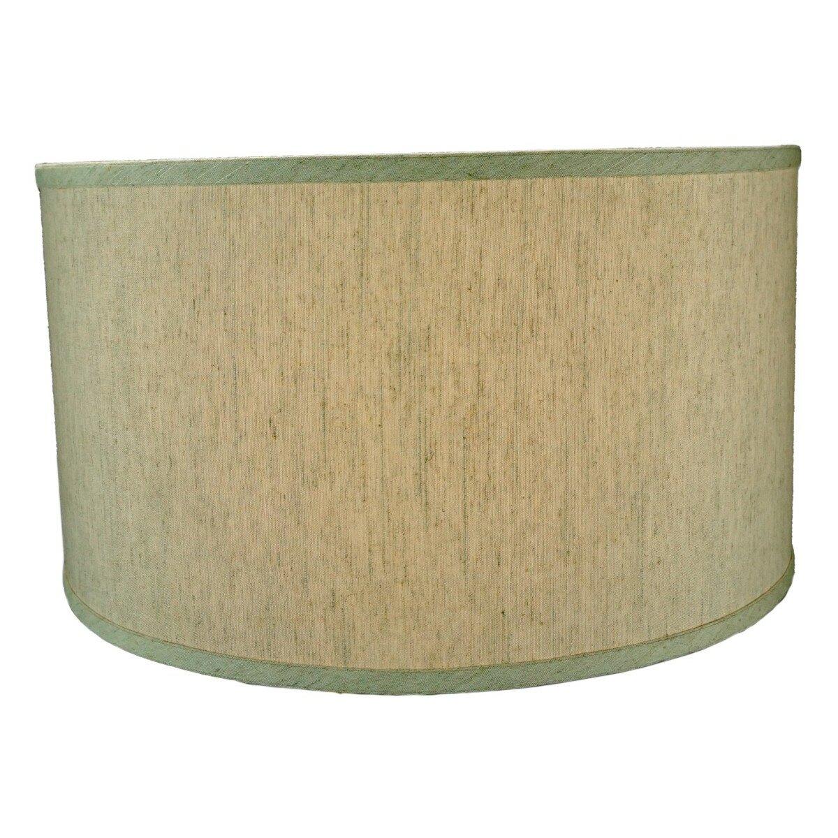 home concept 18 shallow burlap drum lamp shade reviews. Black Bedroom Furniture Sets. Home Design Ideas