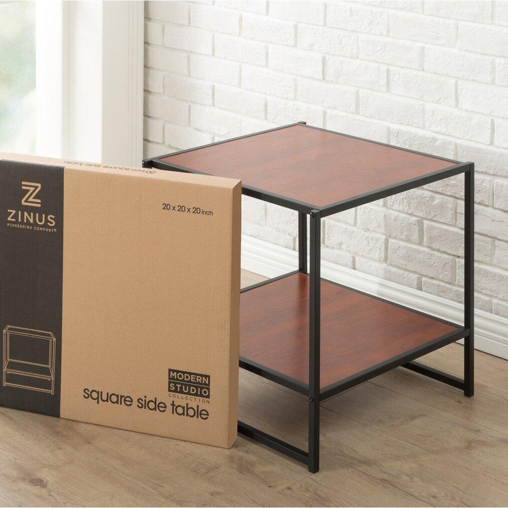 Zinus Modern Studio End Table Amp Reviews Wayfair