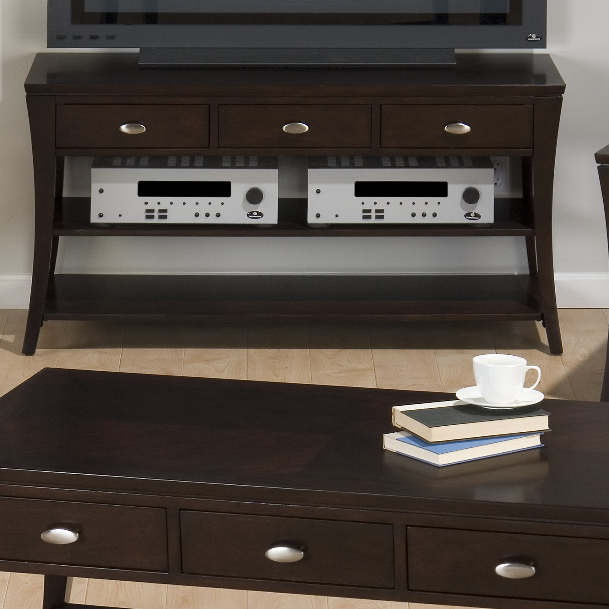 Jofran Double Header Mobile Coffee Table Set Reviews
