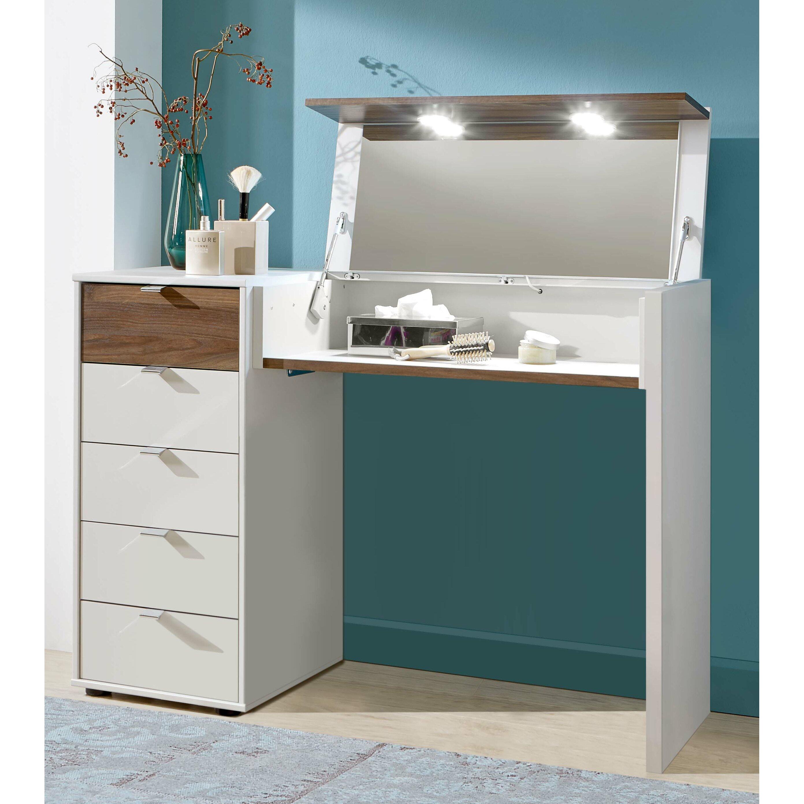 wiemann schminktisch catania mit spiegel. Black Bedroom Furniture Sets. Home Design Ideas
