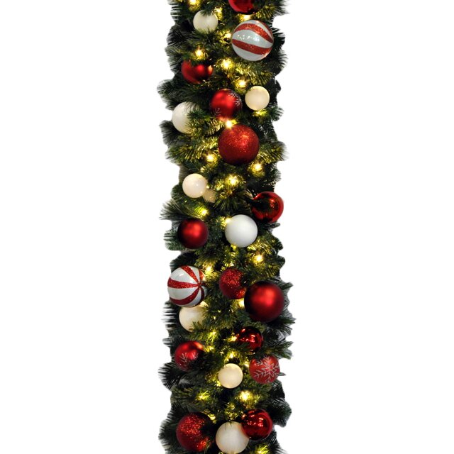 Queens Of Christmas Sequoia Decorated Garland & Reviews