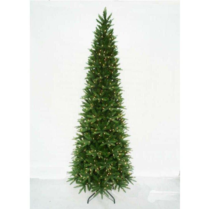 Queens Of Christmas 12' Slender Green Pine Artificial