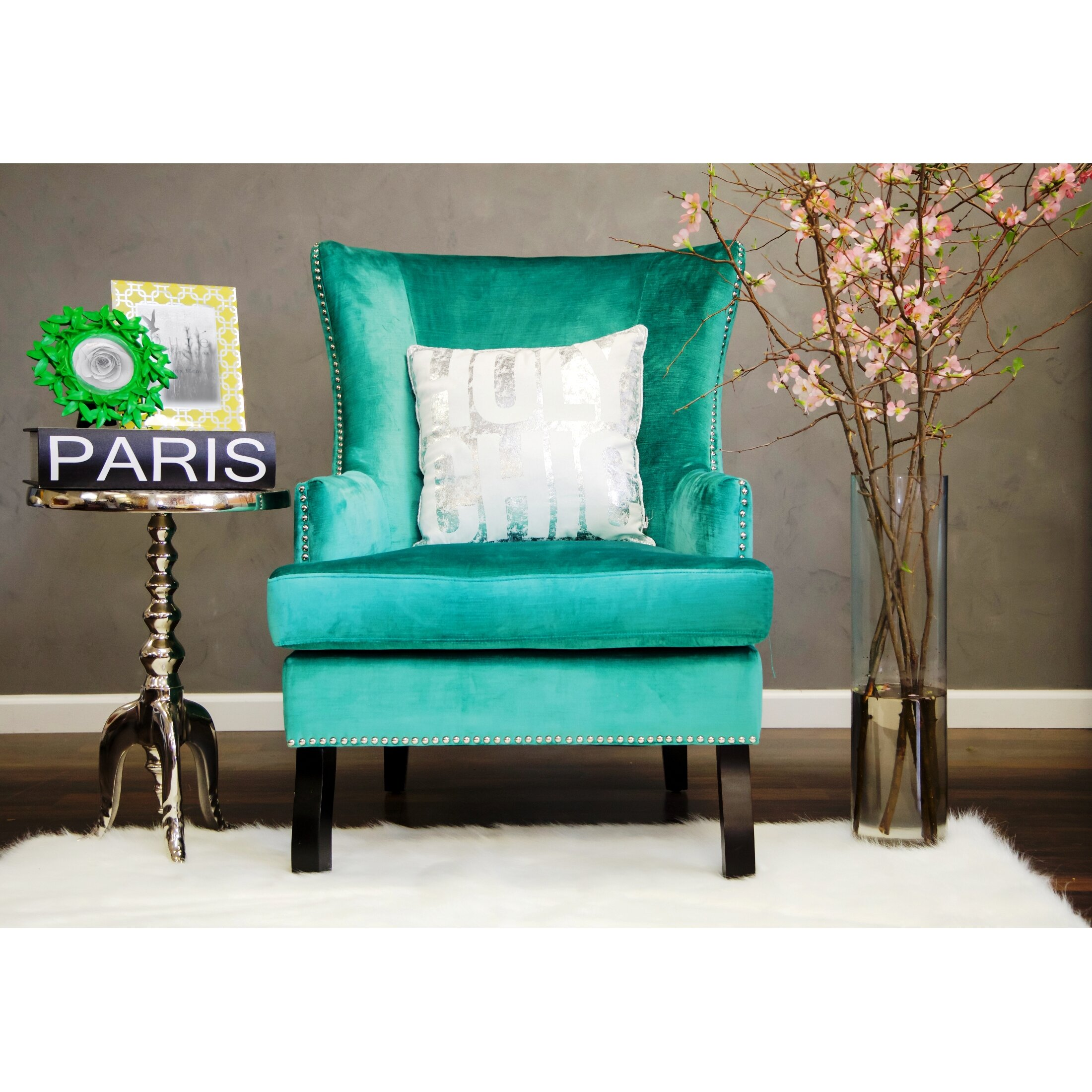 Tov soho wing chair reviews wayfair for Furniture 2 day shipping
