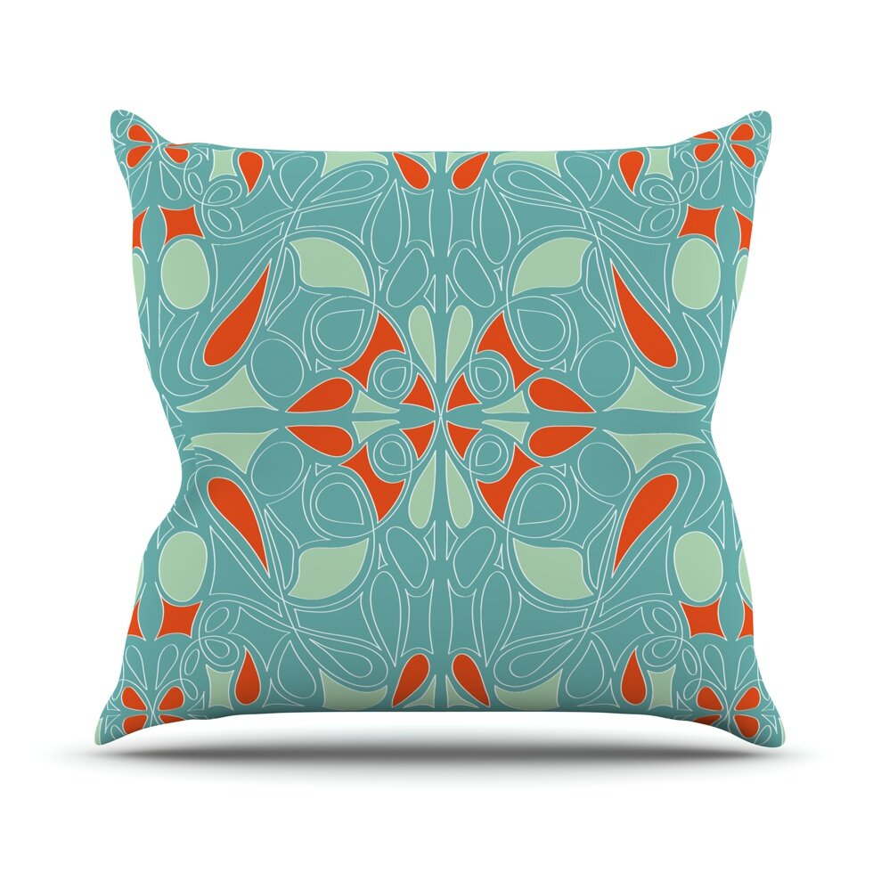 KESS InHouse Seafoam and Orange Throw Pillow Wayfair