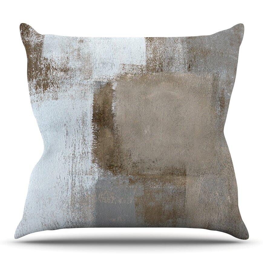 KESS InHouse Calm and Neutral Outdoor Throw Pillow & Reviews  Wayfair