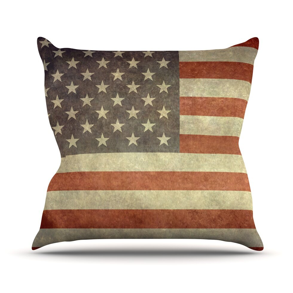 Throw Pillows Ross : KESS InHouse Flag of US Retro by Bruce Stanfield Rustic Throw Pillow & Reviews Wayfair