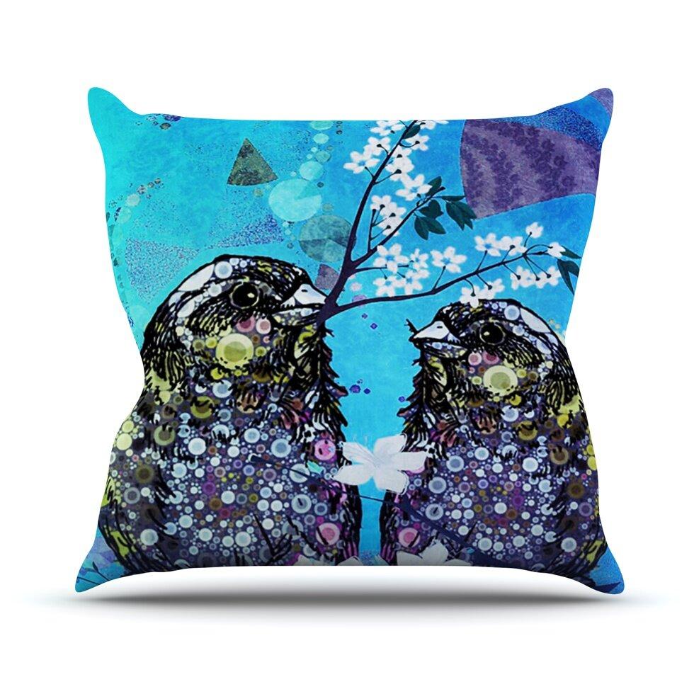 KESS InHouse Birds In Love by alyZen Moonshadow Throw Pillow Wayfair