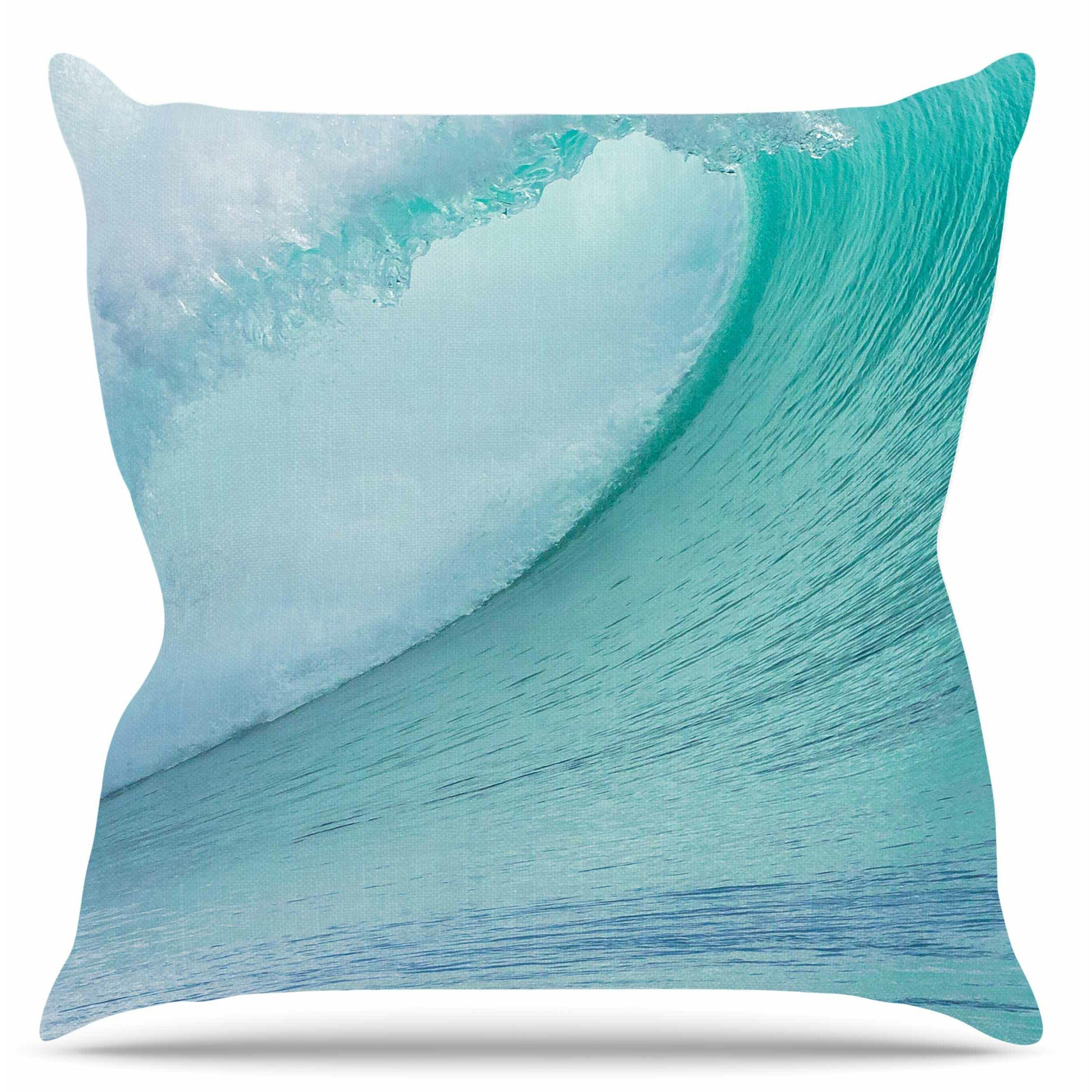 Ocean Blue Decorative Pillows : KESS InHouse Ocean Blue Wave Throw Pillow & Reviews Wayfair