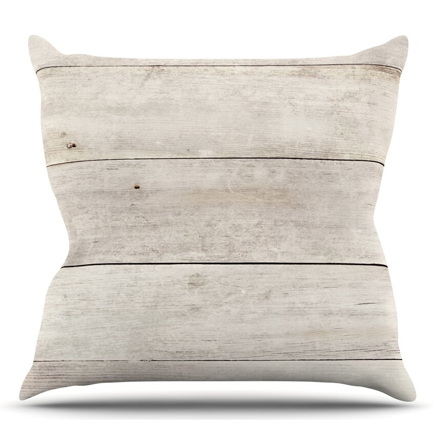 KESS InHouse Wash Wood Throw Pillow Wayfair