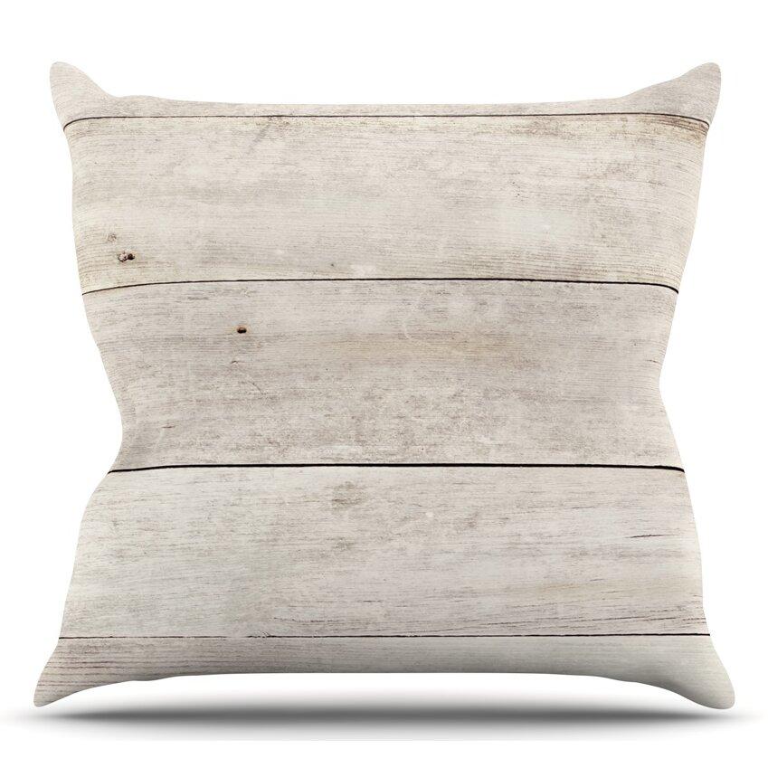 Washing Down Decorative Pillows : KESS InHouse Wash Wood Throw Pillow Wayfair