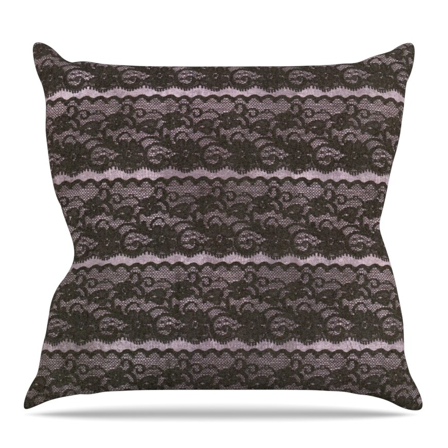 Throw Pillows With Lace : KESS InHouse Lace Throw Pillow Wayfair