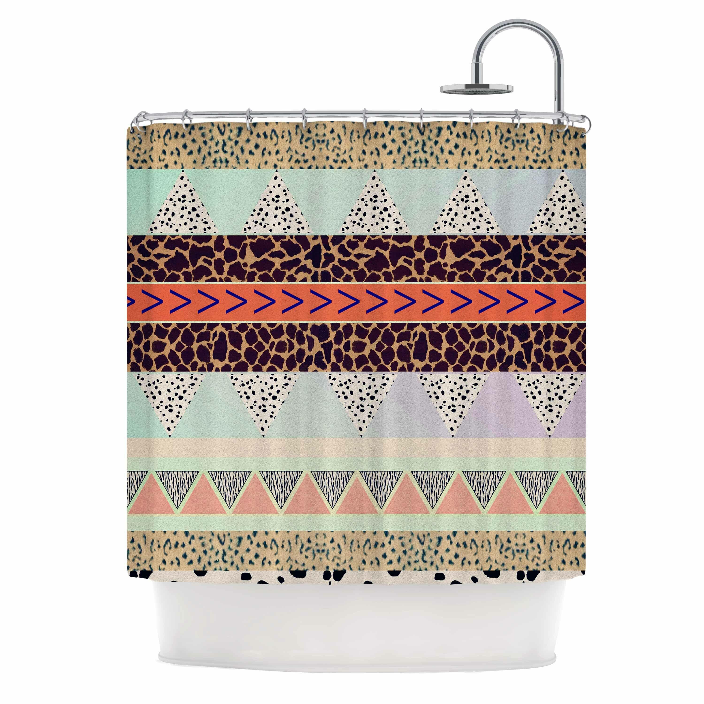 KESS InHouse Animal Print Tribal Shower Curtain