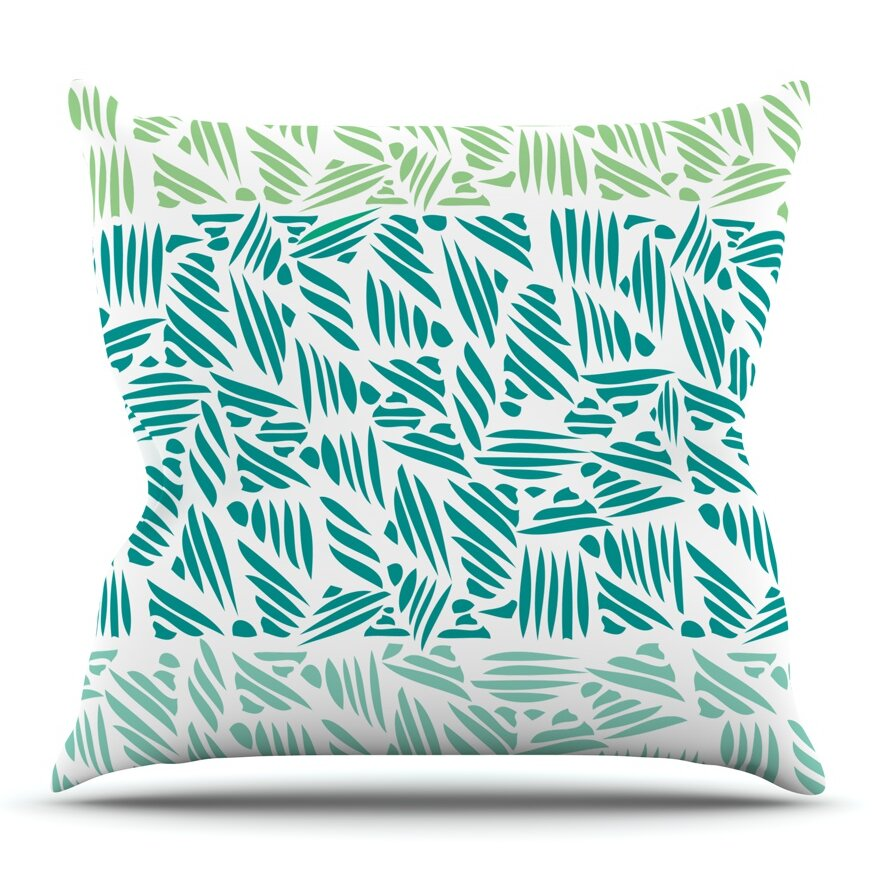 KESS InHouse Bamboo Rayon by Pom Graphic Design Outdoor Throw Pillow Wayfair