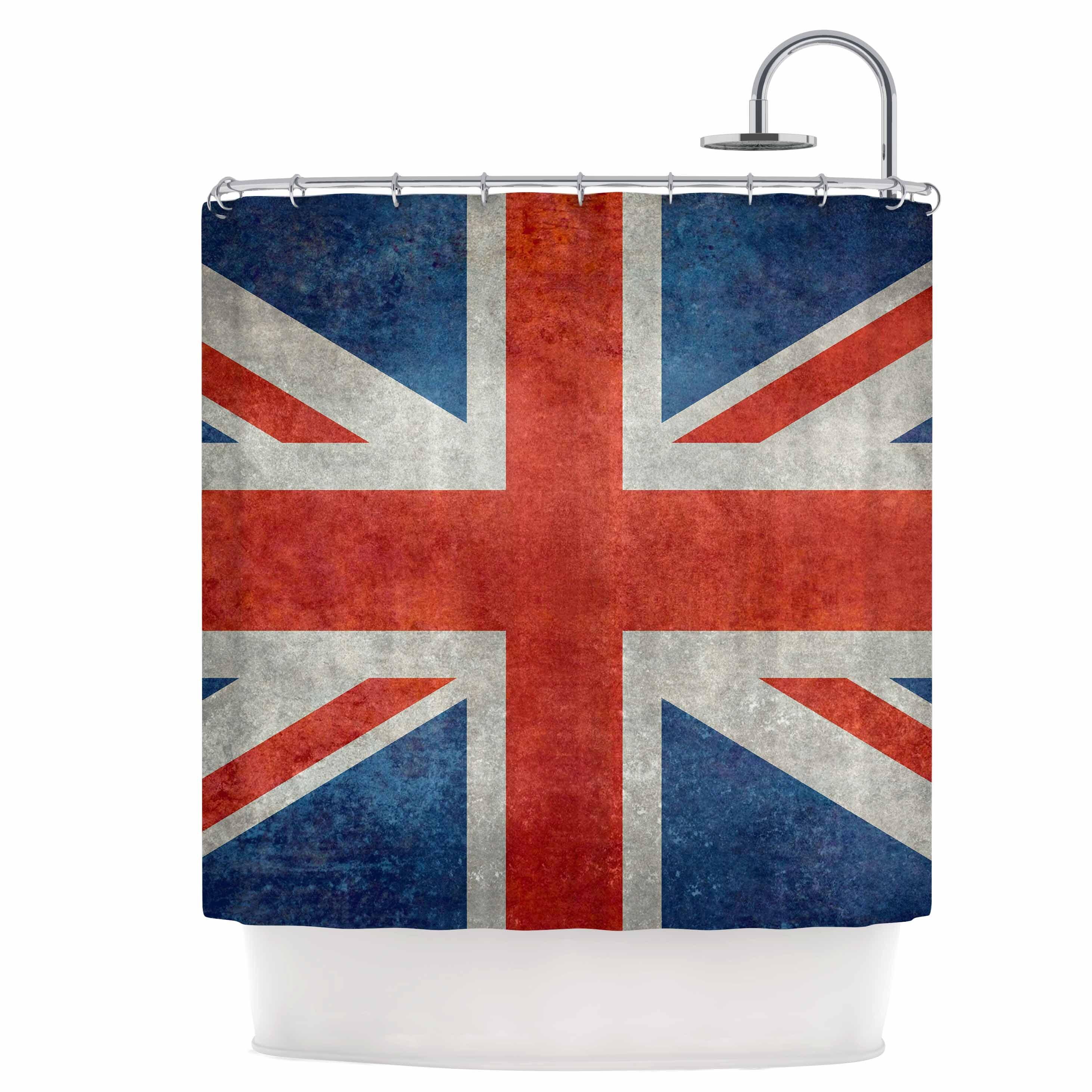 Kess Inhouse Uk Union Jack Flag Shower Curtain Wayfair