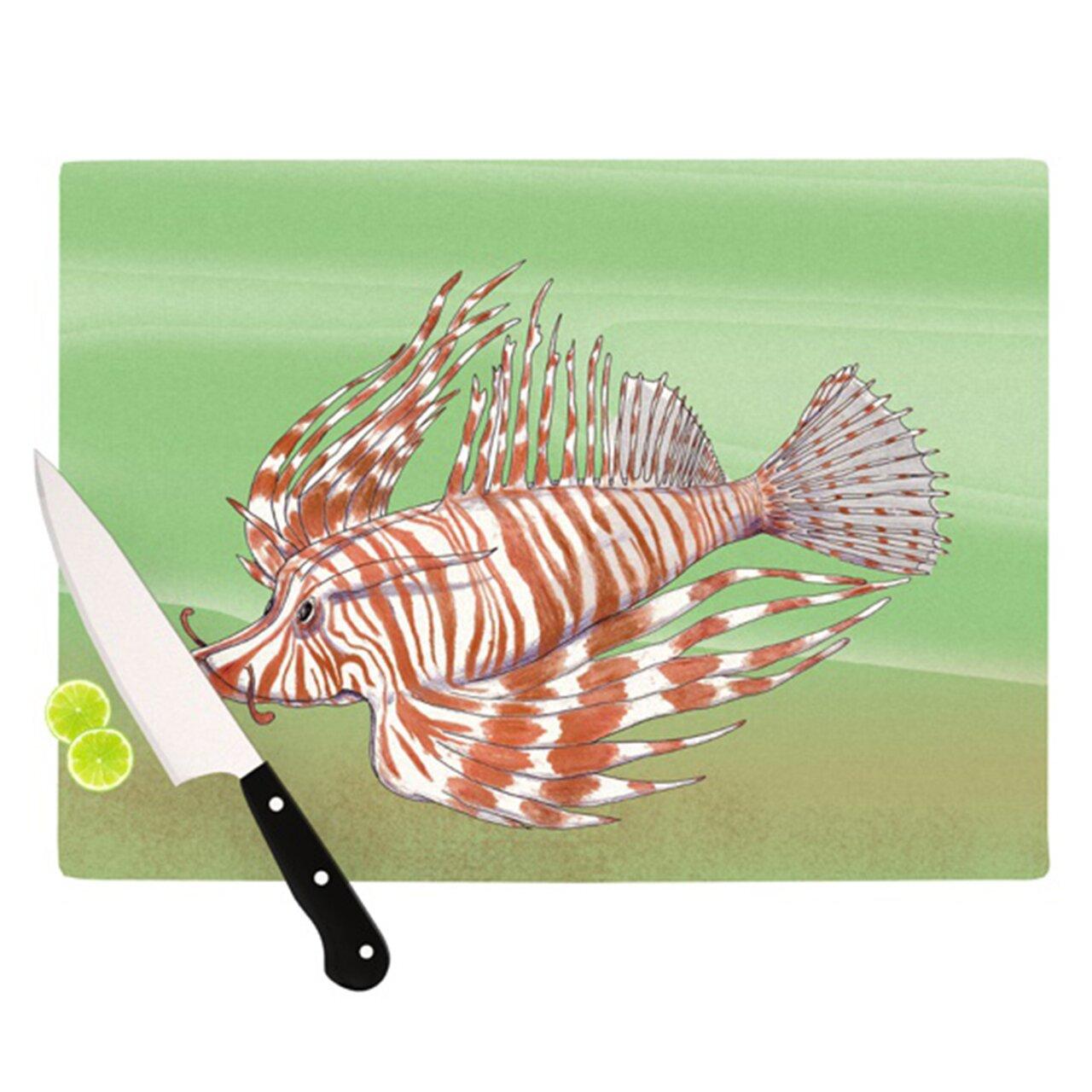 Kess inhouse fish manchu cutting board wayfair for Fish cutting board