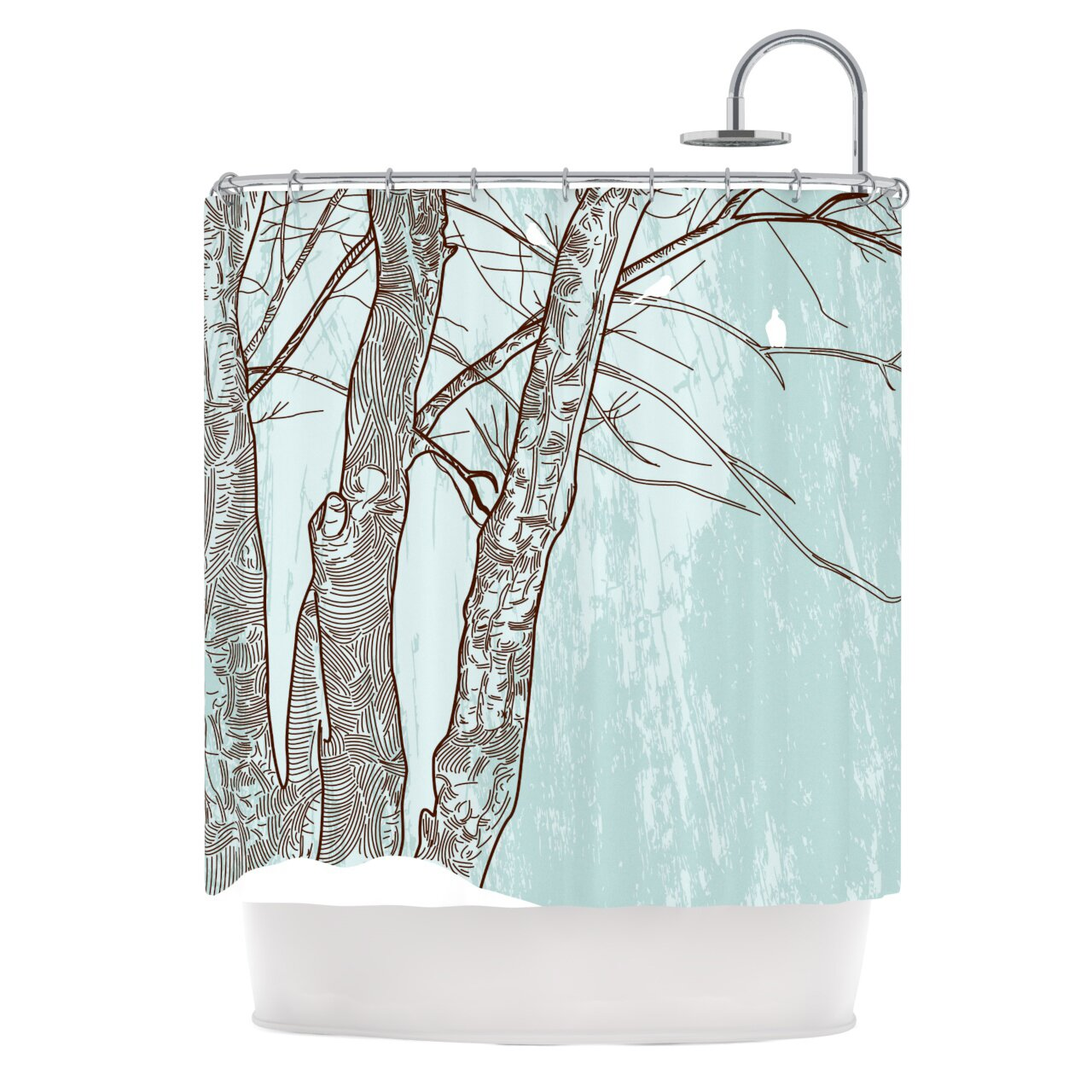 Kess Inhouse Winter Trees Shower Curtain Reviews Wayfair