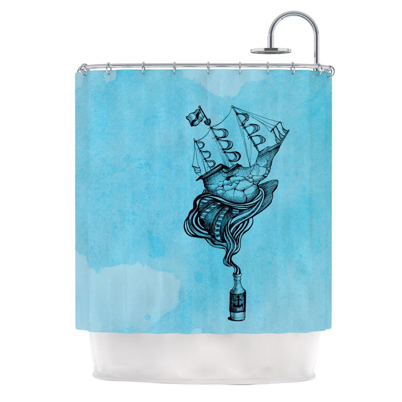 KESS InHouse All Aboard Shower Curtain