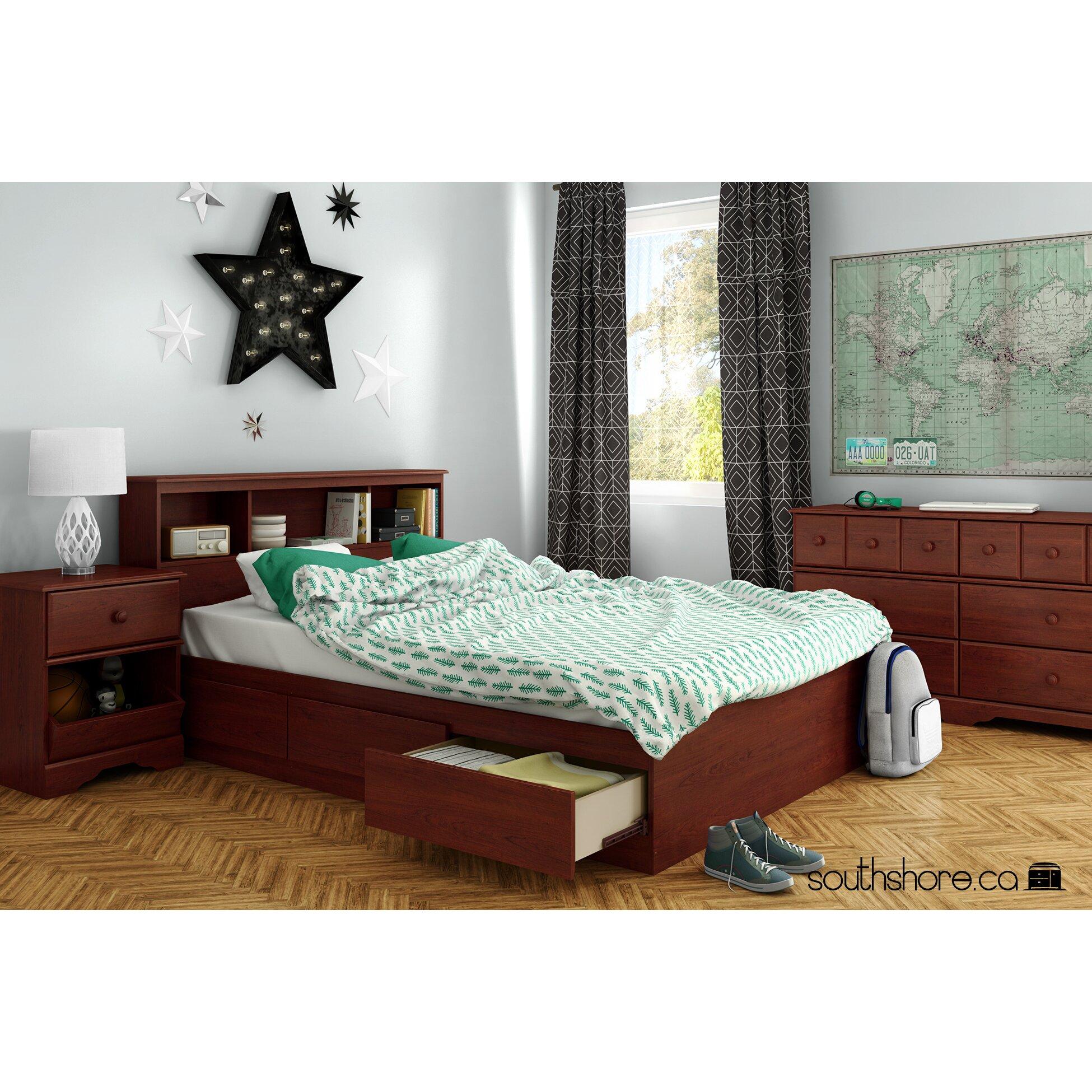 South Shore Little Treasures Platform Customizable Bedroom
