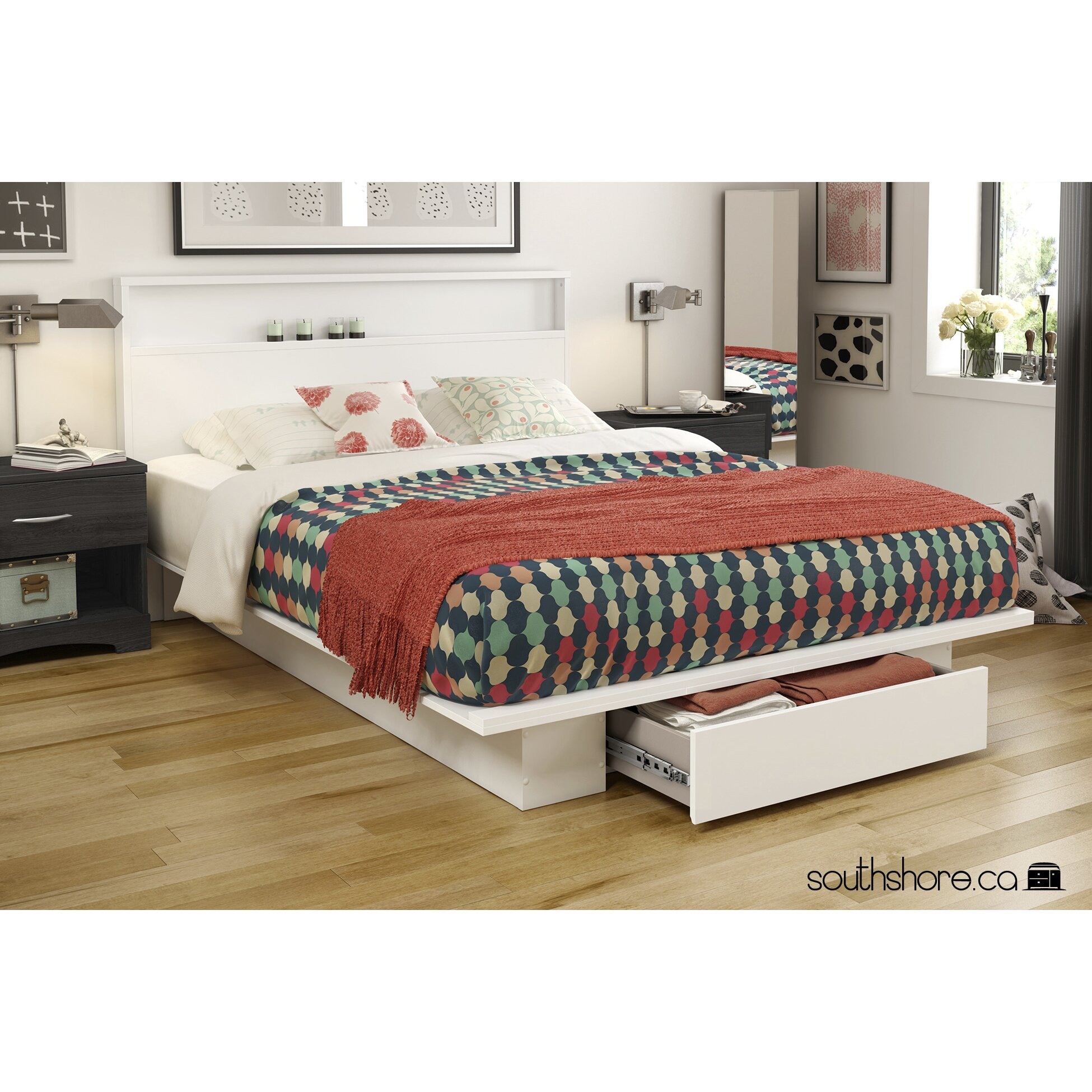 South Shore Holland Storage Platform Bed & Reviews