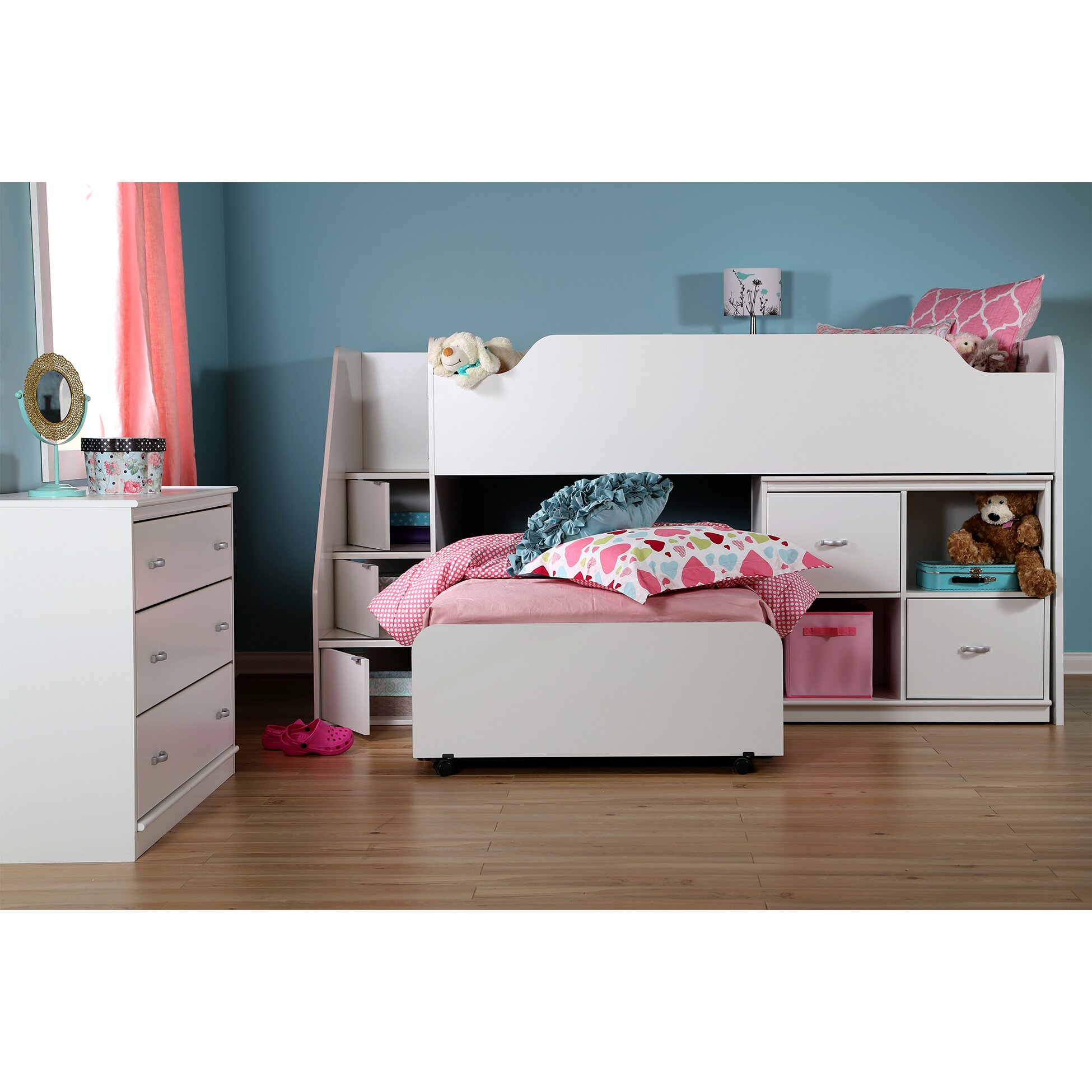 south shore mobby twin loft bed customizable bedroom set