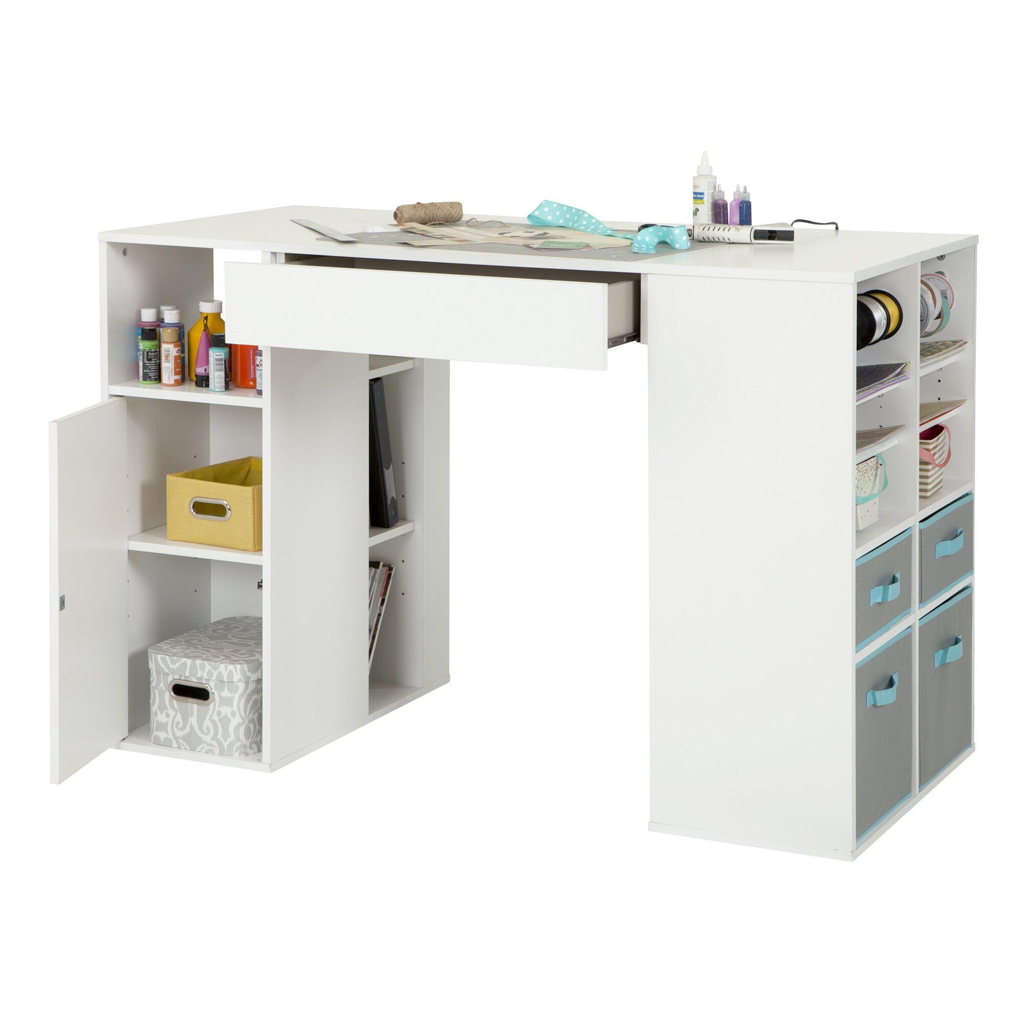 South shore crea counter height craft table reviews for South shore sewing craft table