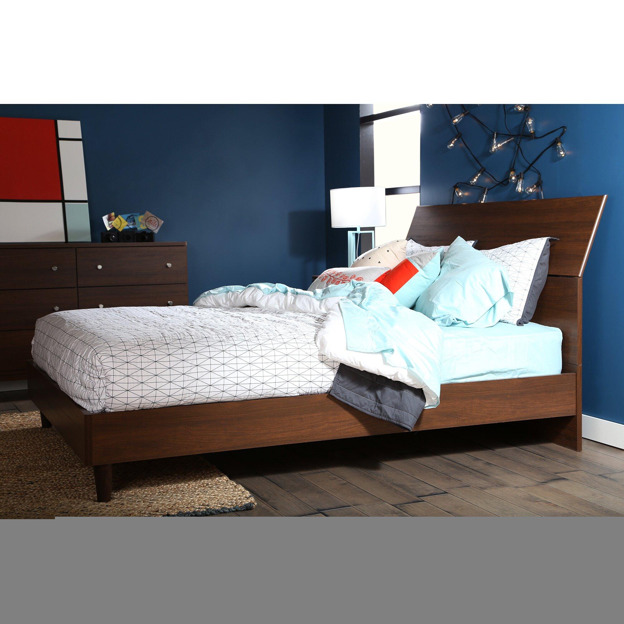 Modern Platform Bedroom Sets Soft Bedroom Lighting Black And Red Bedroom Interior Design Bedroom Furniture Ideas 2016: South Shore Olly Queen Platform Customizable Bedroom Set