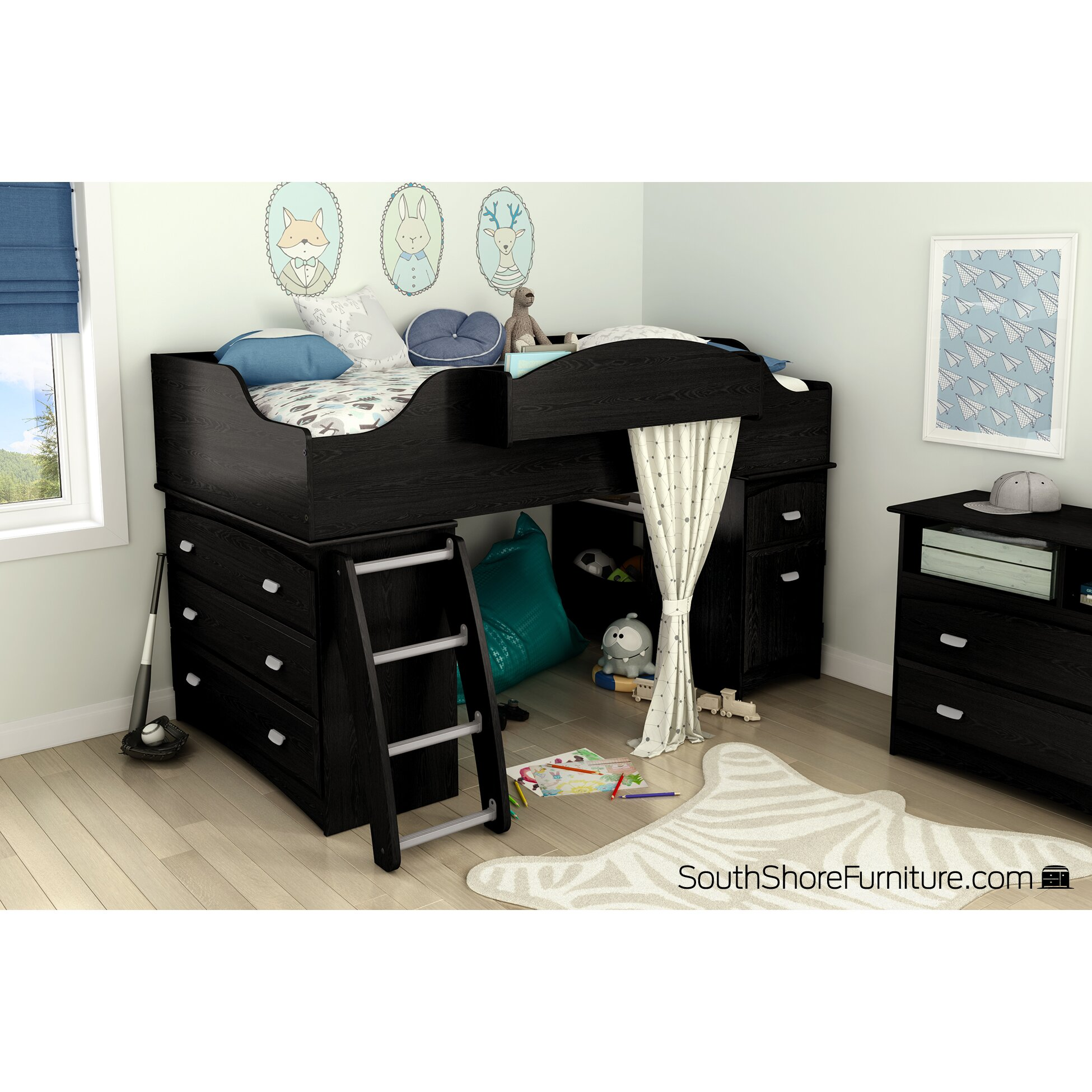 South Shore Low Loft Bed
