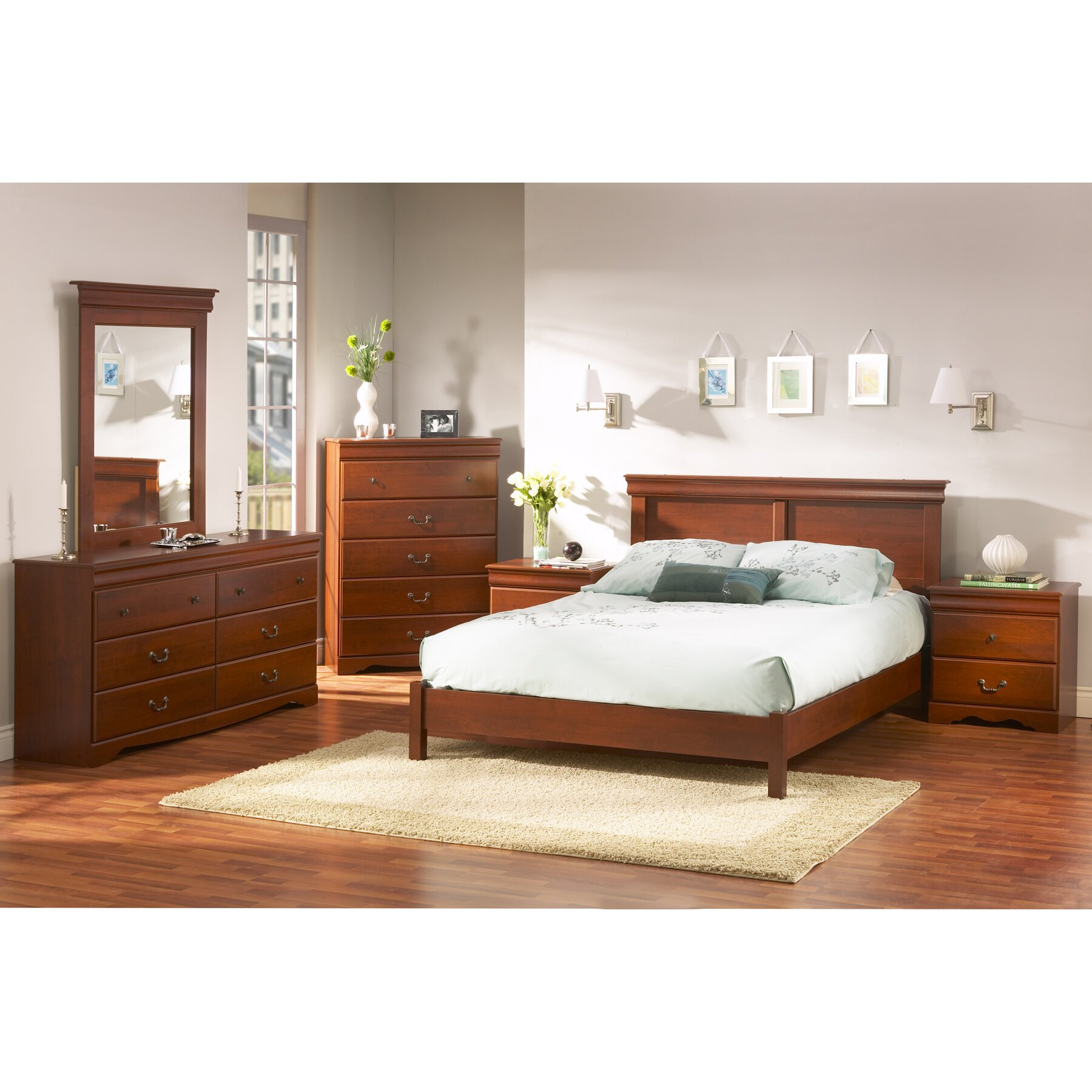 South Shore Vintage Queen Platform Customizable Bedroom