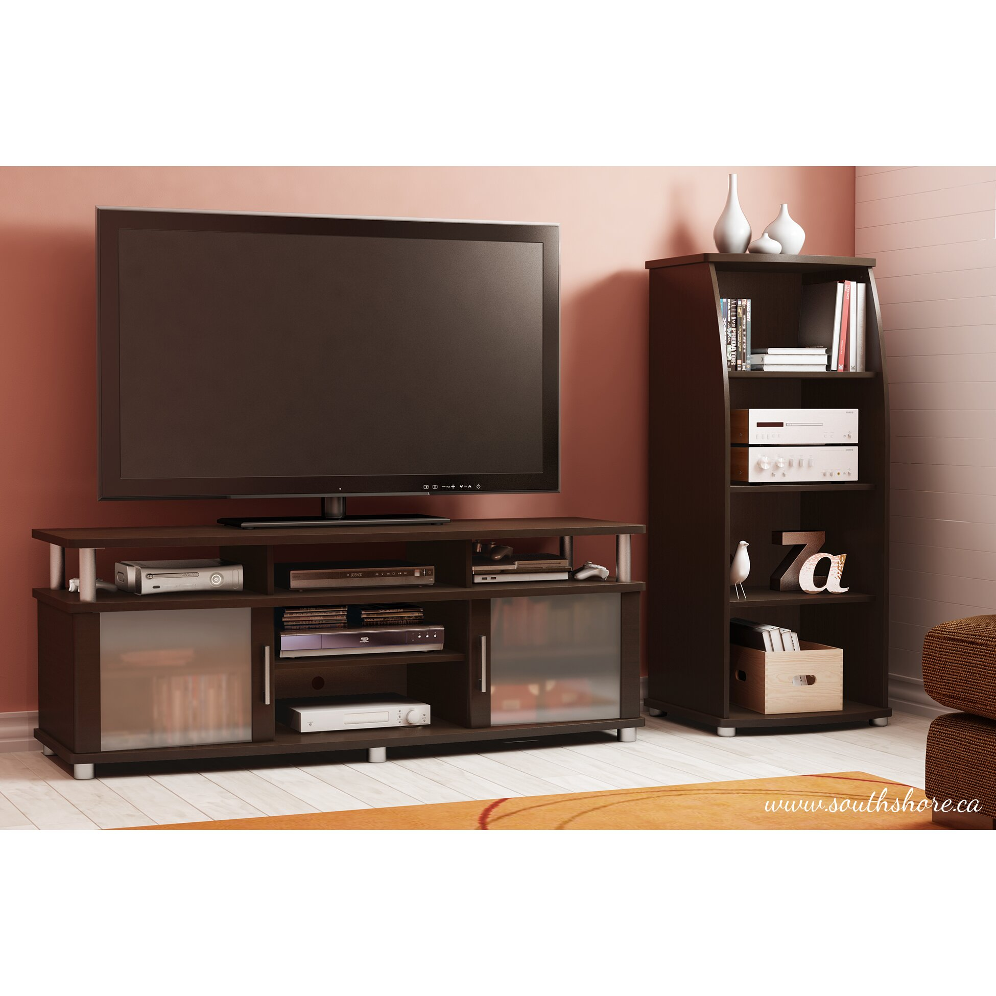 Superior Venerable The Chic South Shore City Life Tv Stand Representation Awesome Design
