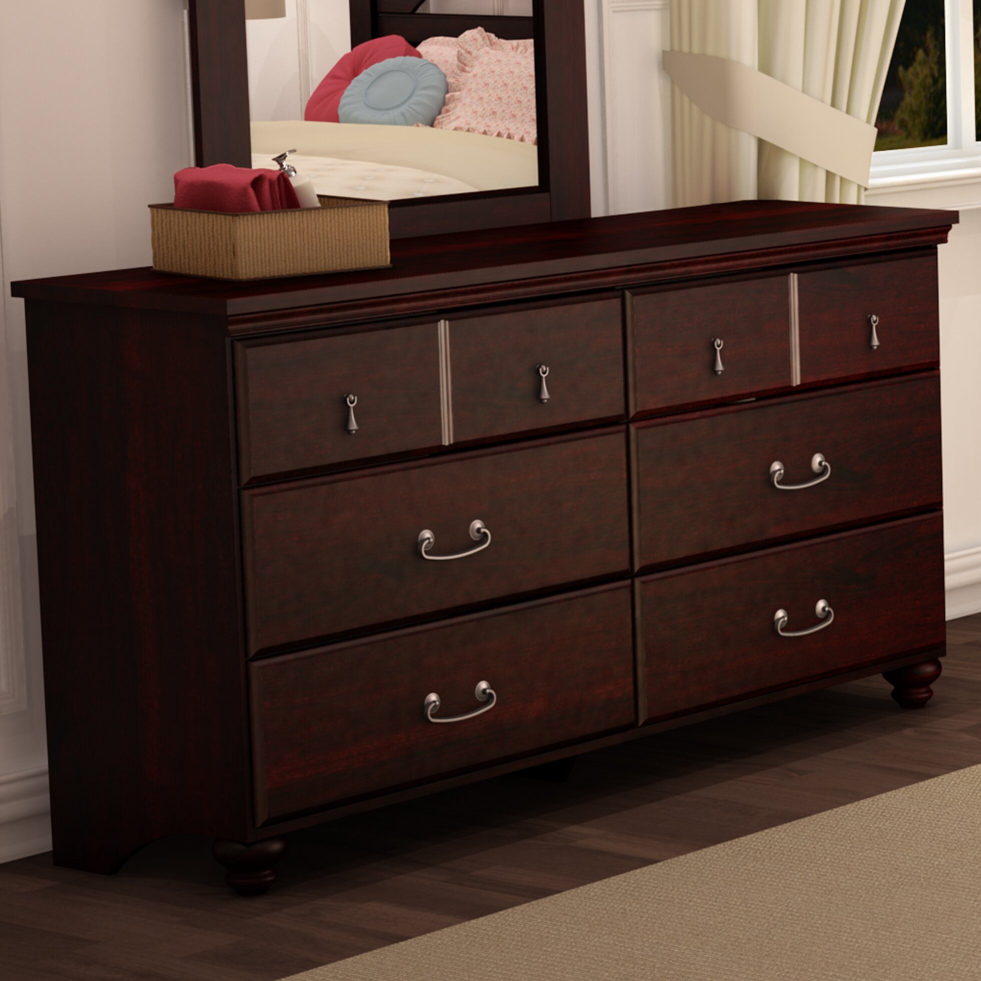 South Shore Noble 6 Drawer Dresser Amp Reviews Wayfair Ca