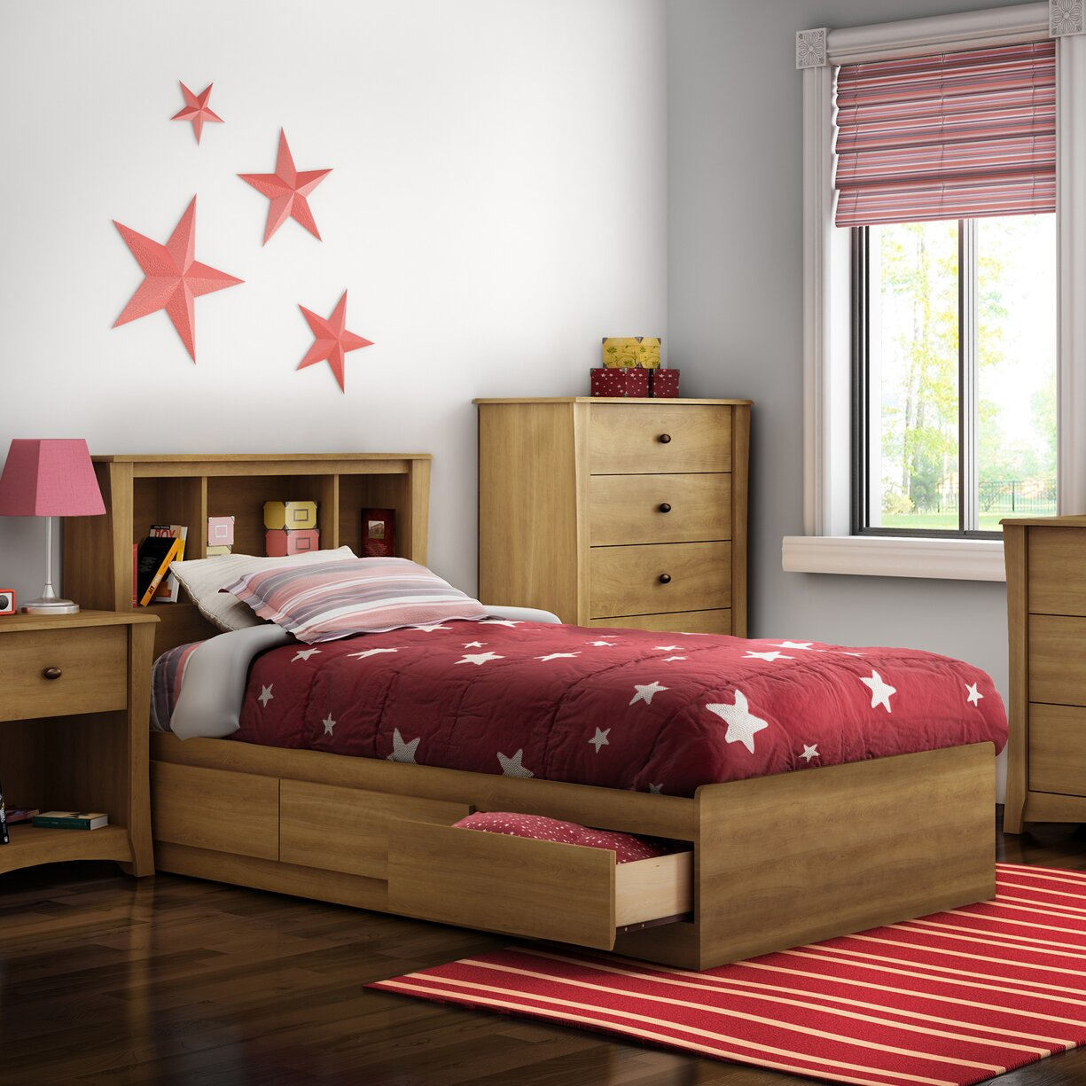 South shore jumper twin platform customizable bedroom set - South shore furniture bedroom sets ...