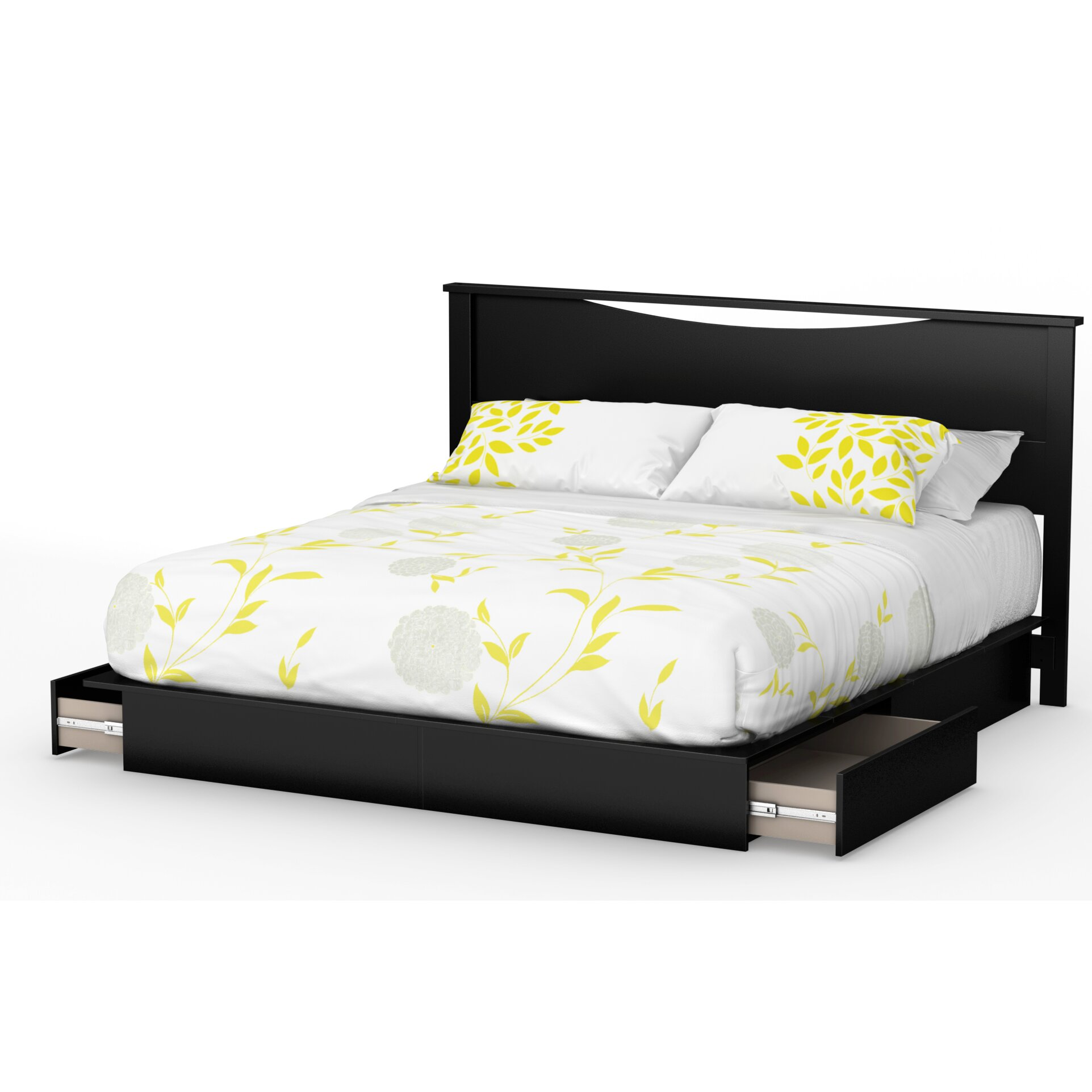 south shore king storage platform bed reviews wayfair. Black Bedroom Furniture Sets. Home Design Ideas