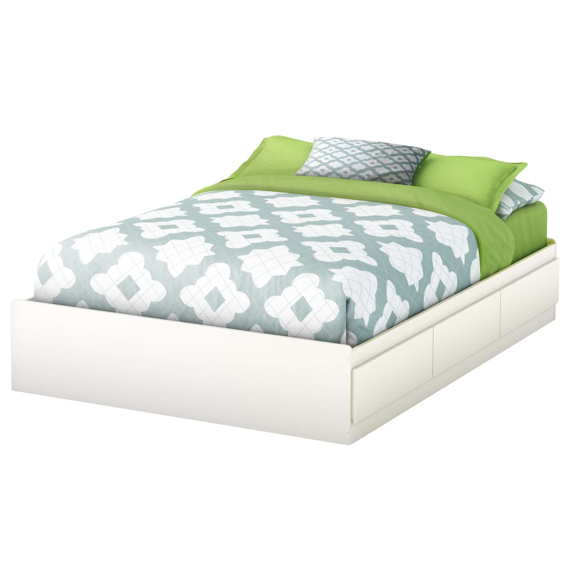 South Shore Step One Full Double Storage Platform Bed Reviews Wayfair