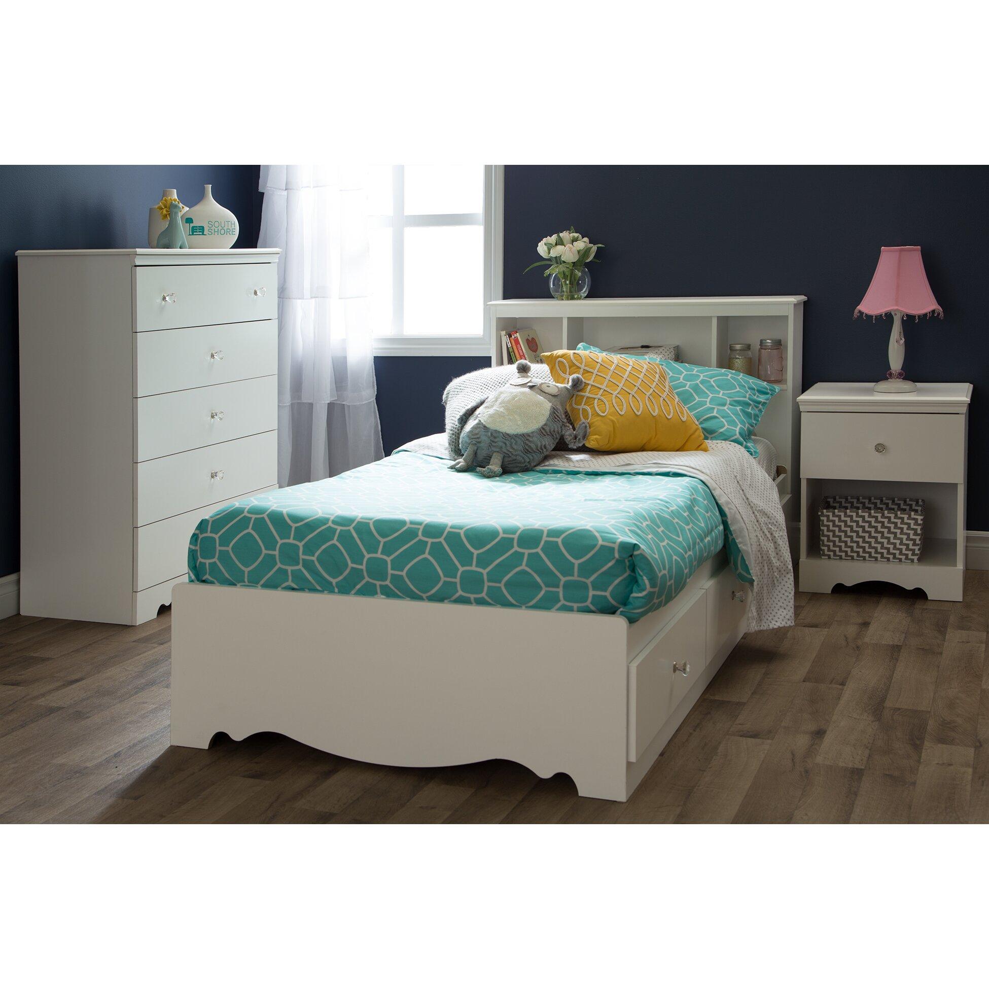 South shore crystal platform customizable bedroom set - South shore furniture bedroom sets ...