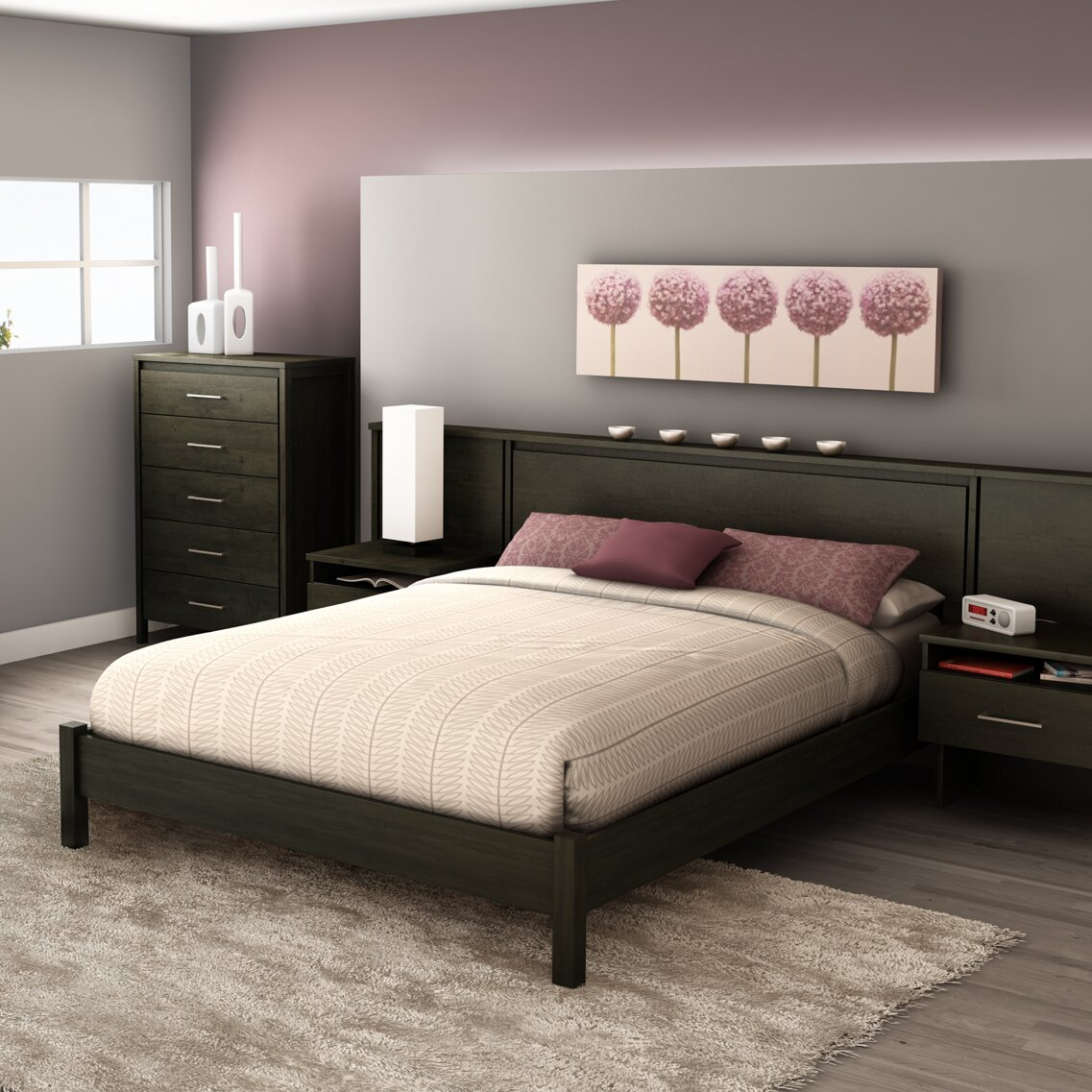 South Shore Gravity Queen Platform Customizable Bedroom Set Reviews W