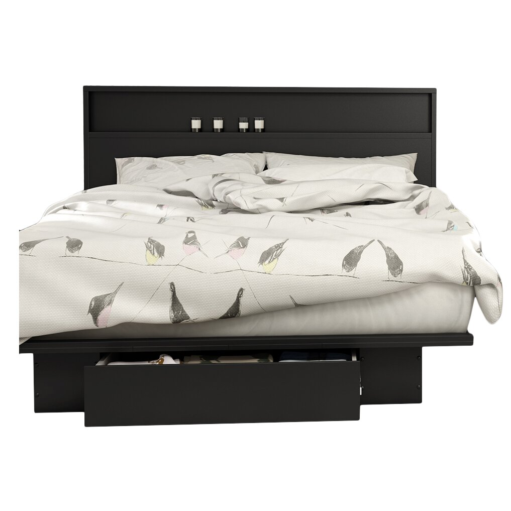 South Shore Full Queen Storage Platform Bed Amp Reviews